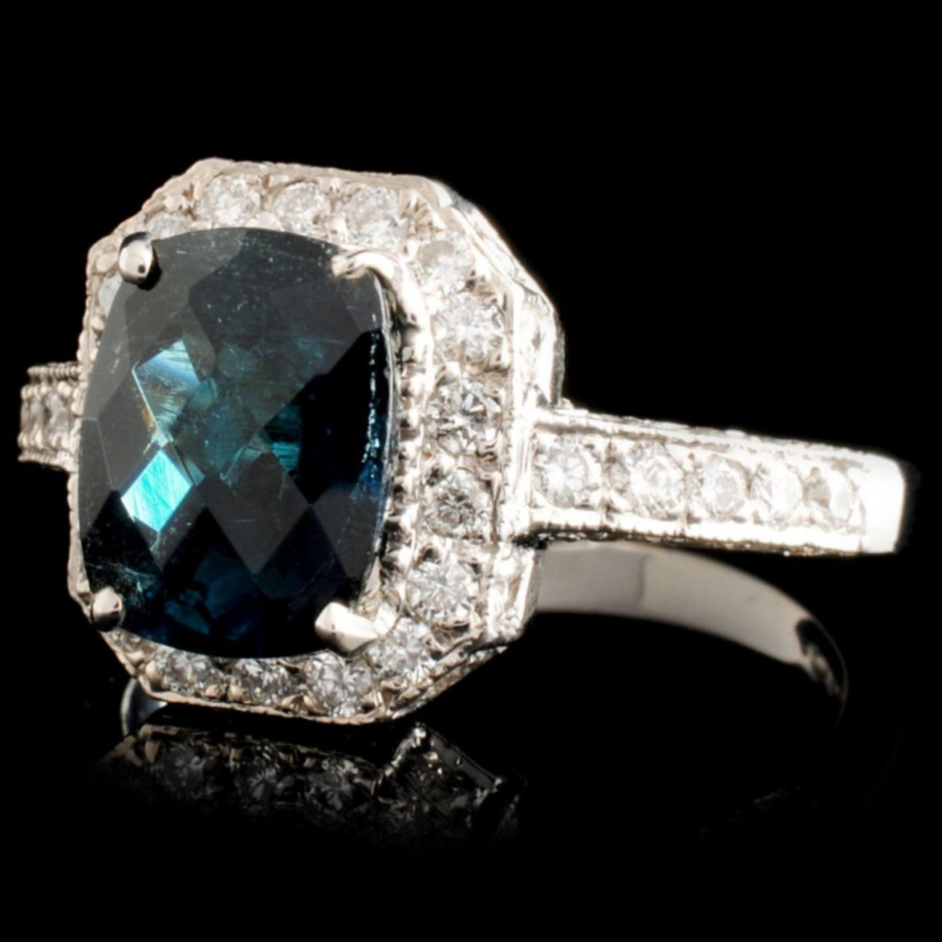 18K Gold 2.50ct Tourmaline & 0.80ctw Diamond Ring - Image 2 of 3