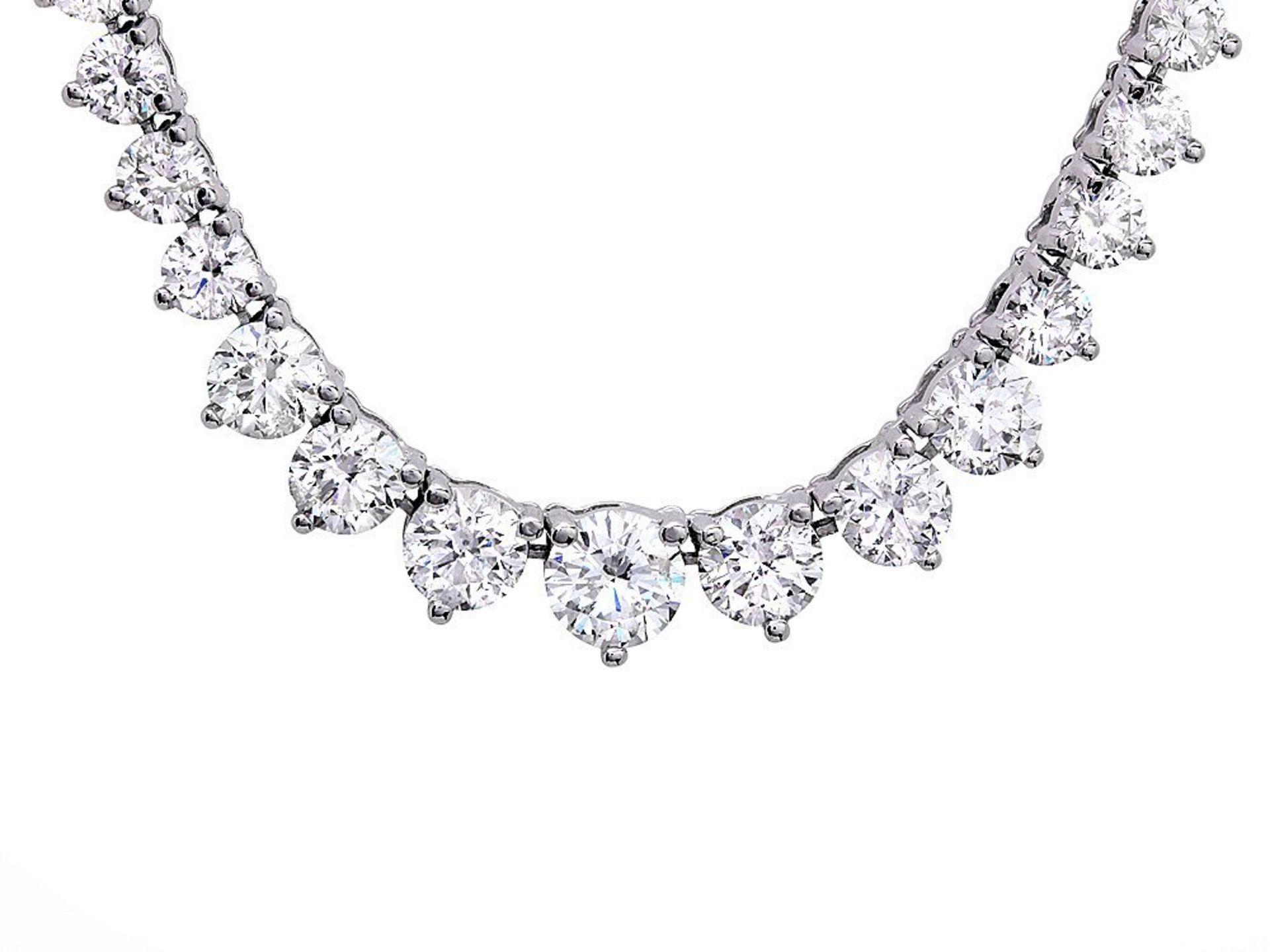 18k White Gold 9.00ct Diamond Necklace - Image 2 of 4
