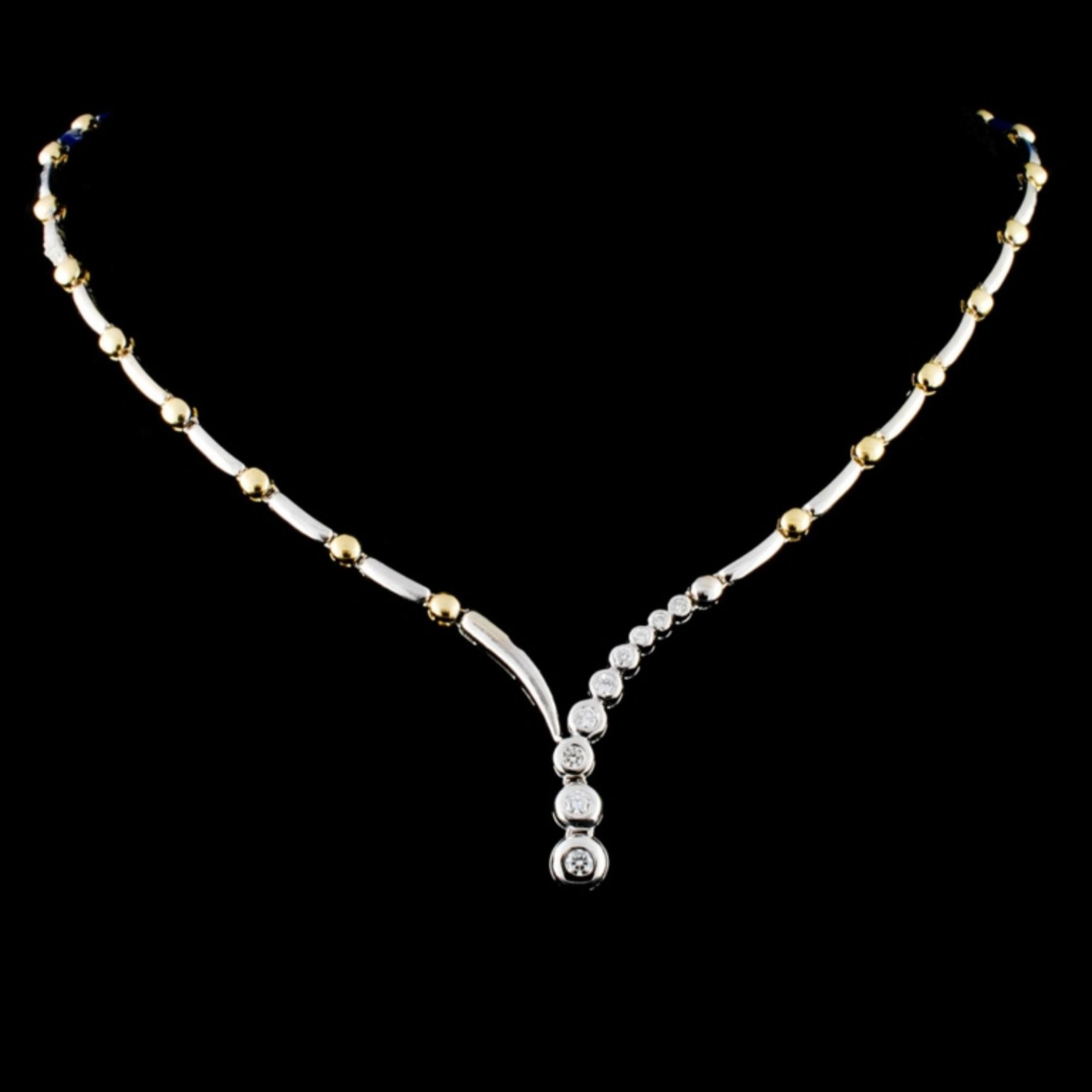 14K Gold 0.46ctw Diamond Necklace - Image 2 of 4