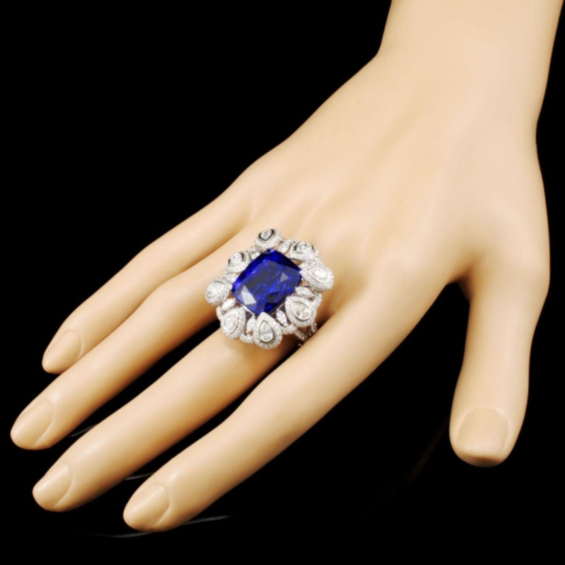 18K Gold 17.56ct Tanzanite & 3.50ctw Diamond Ring - Image 3 of 5