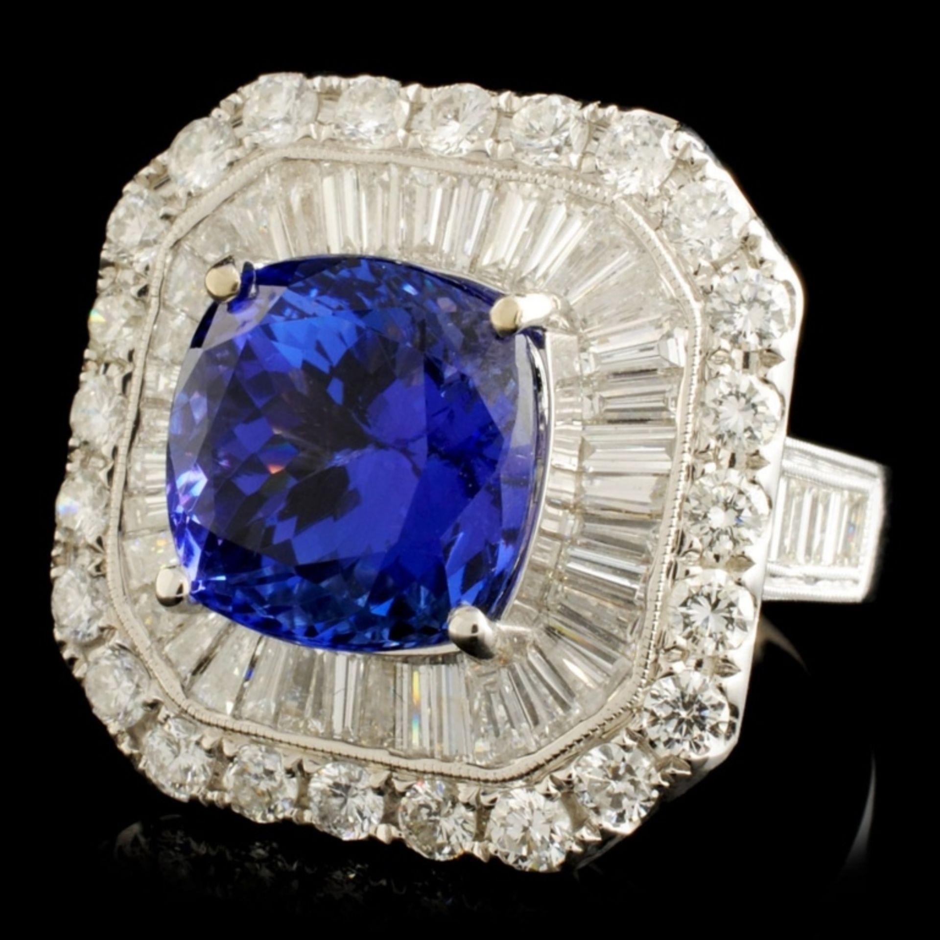 18K Gold 7.60ct Tanzanite & 3.33ctw Diamond Ring - Image 2 of 5
