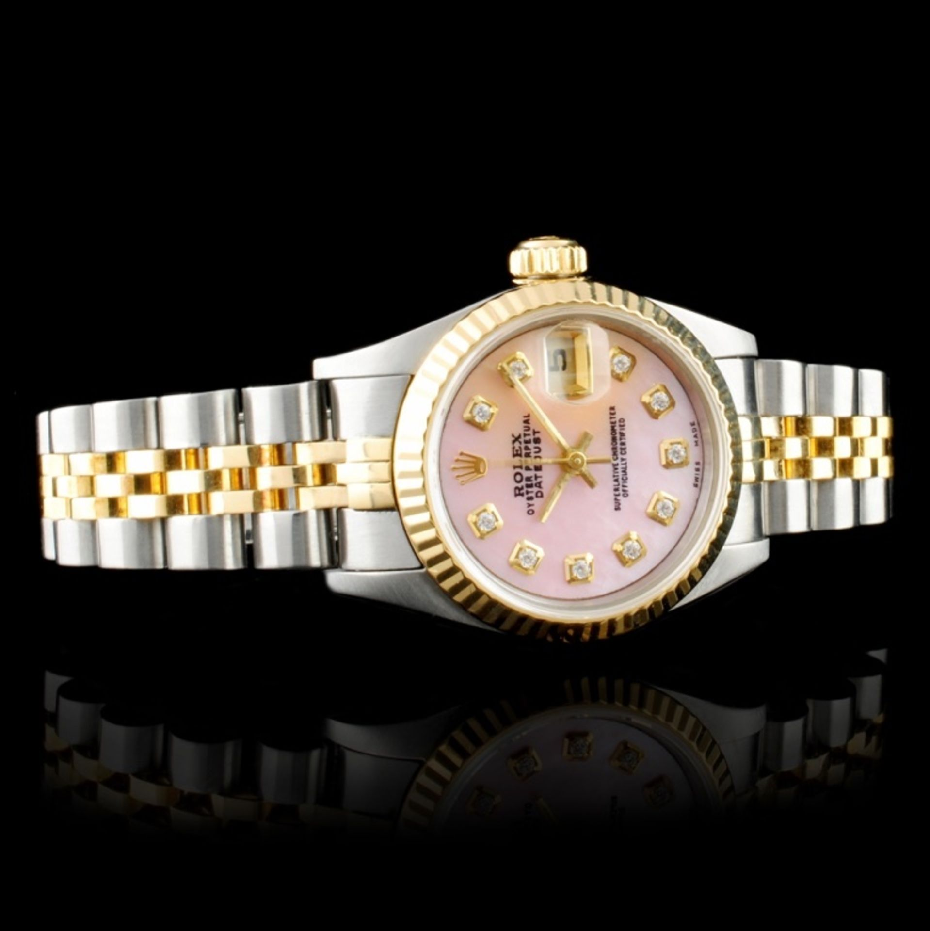 Rolex DateJust Diamond Ladies Wristwatch - Image 2 of 6