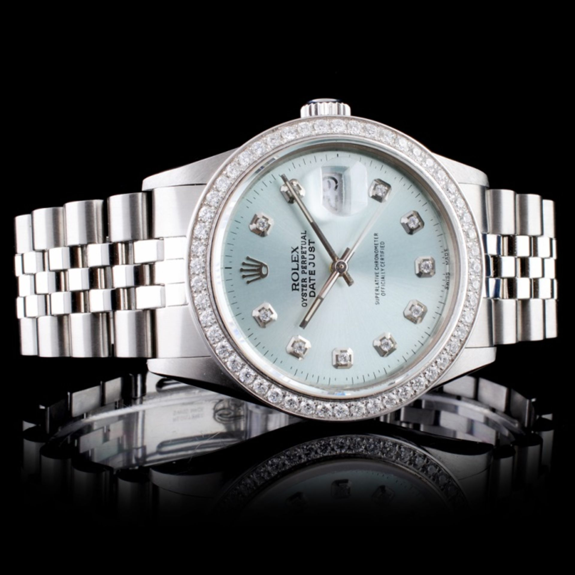 Rolex SS DateJust Diamond 36mm Wristwatch - Image 2 of 6