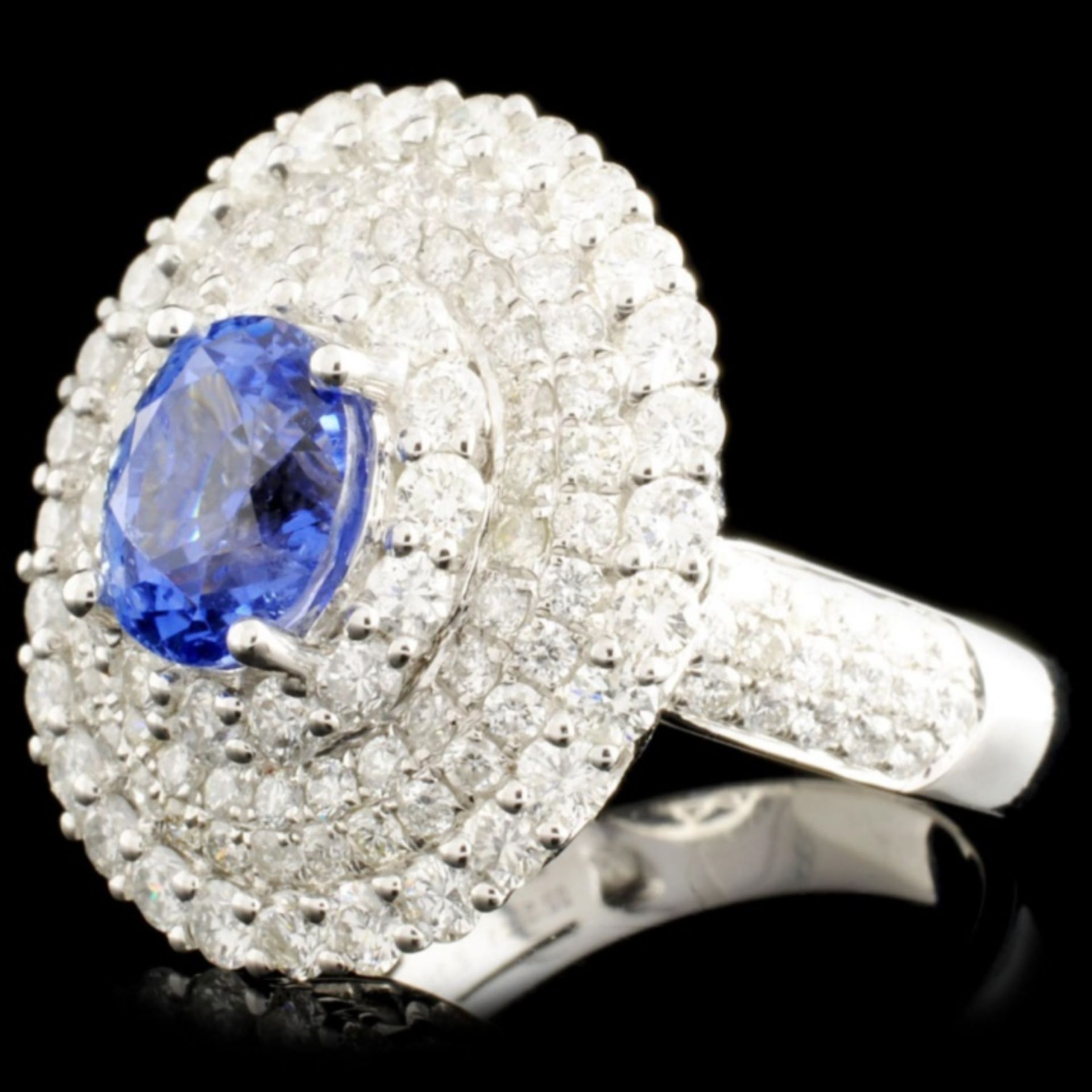 18K Gold 2.71ct Sapphire & 2.52ctw Diamond Ring - Image 2 of 5