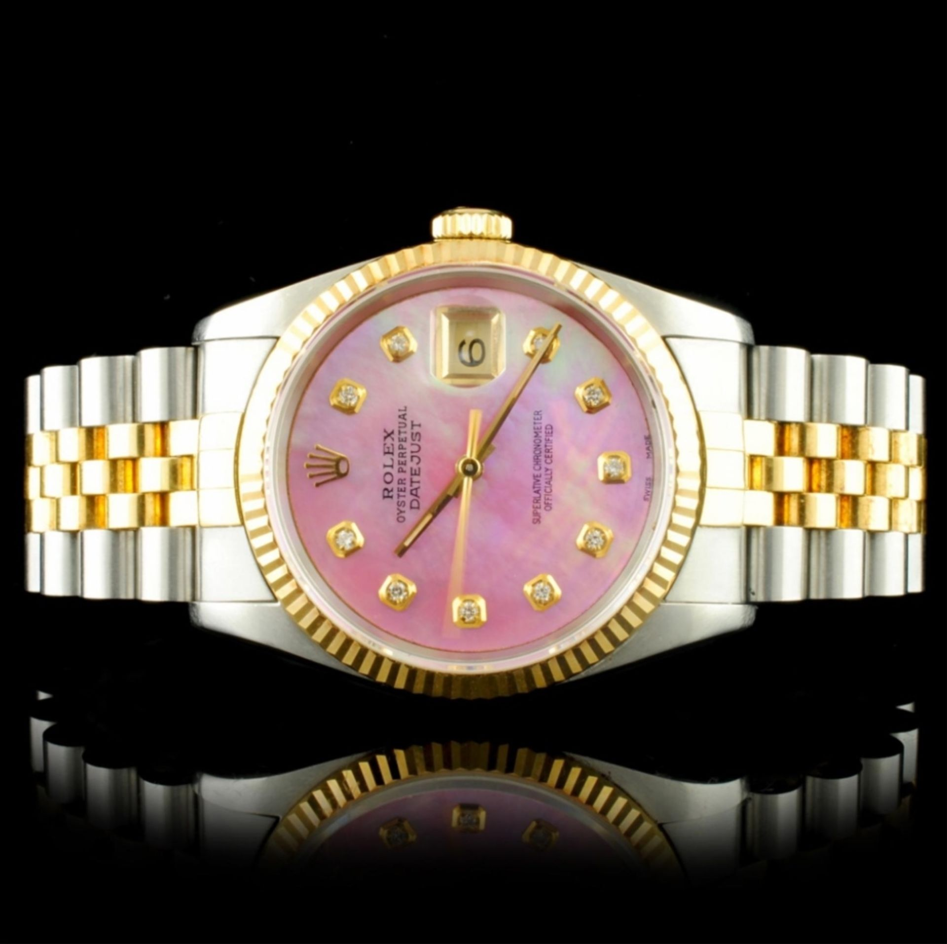 Rolex DateJust YG/SS Diamond 36MM Wristwatch