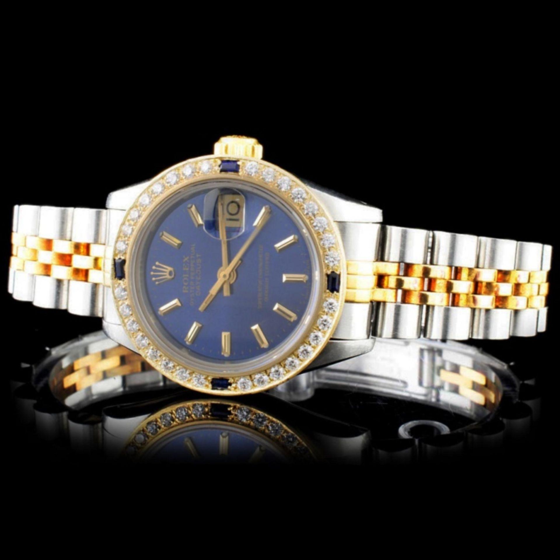 Rolex YG/SS DateJust 1.00ct Diamond Ladies Wristwa - Image 2 of 5
