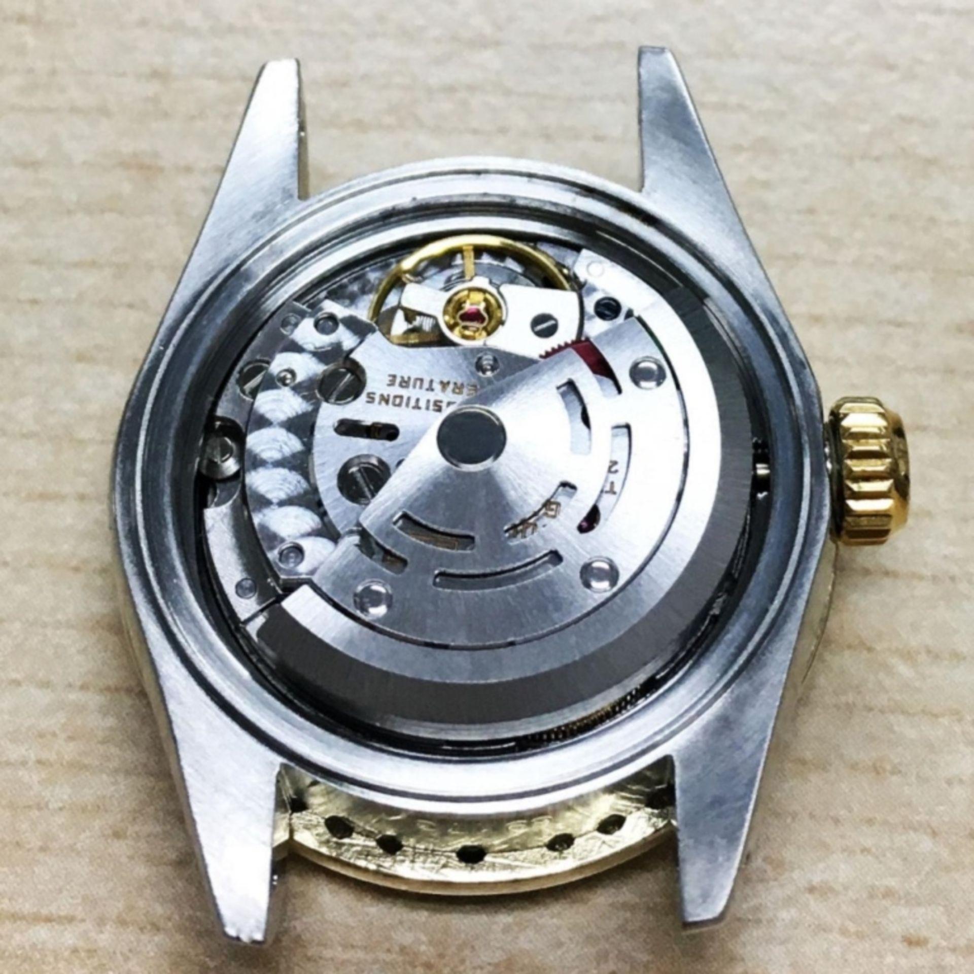 Rolex DateJust 18K & SS 1.00ct Diamond Blue Vignet - Image 4 of 8