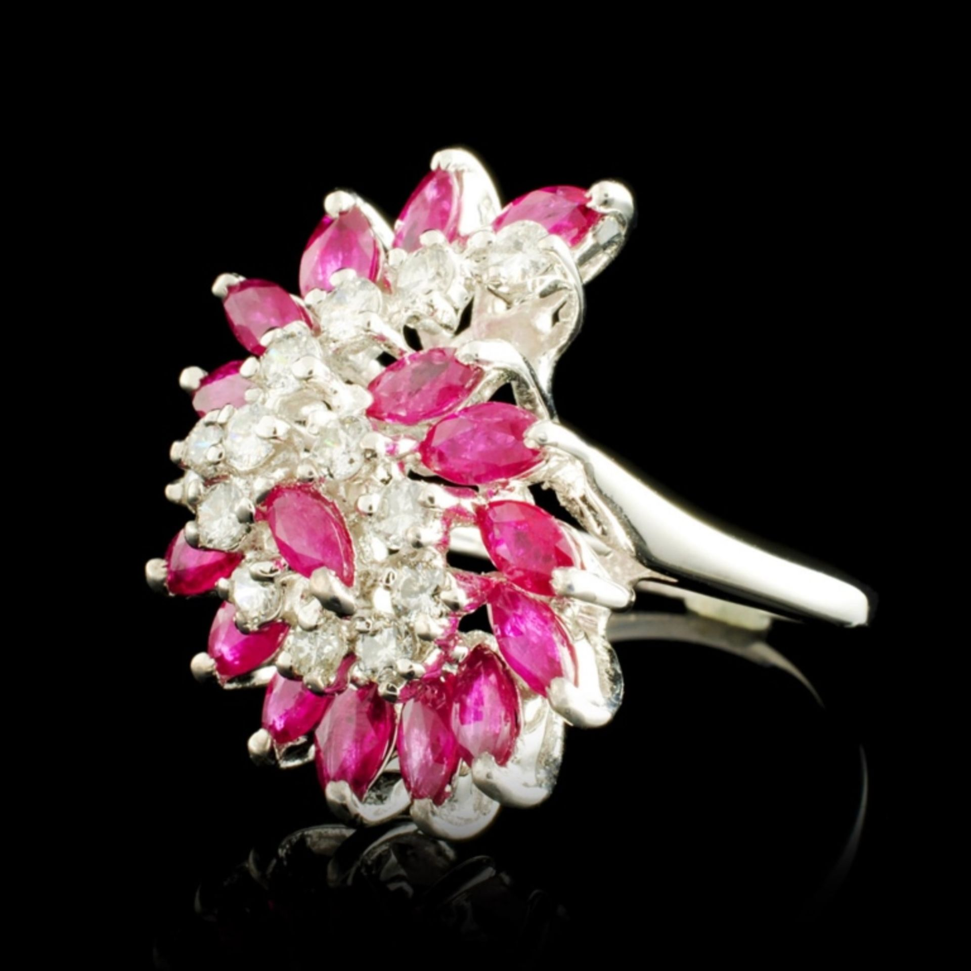 14K Gold 1.92ct Ruby & 0.35ctw Diamond Ring - Image 2 of 5