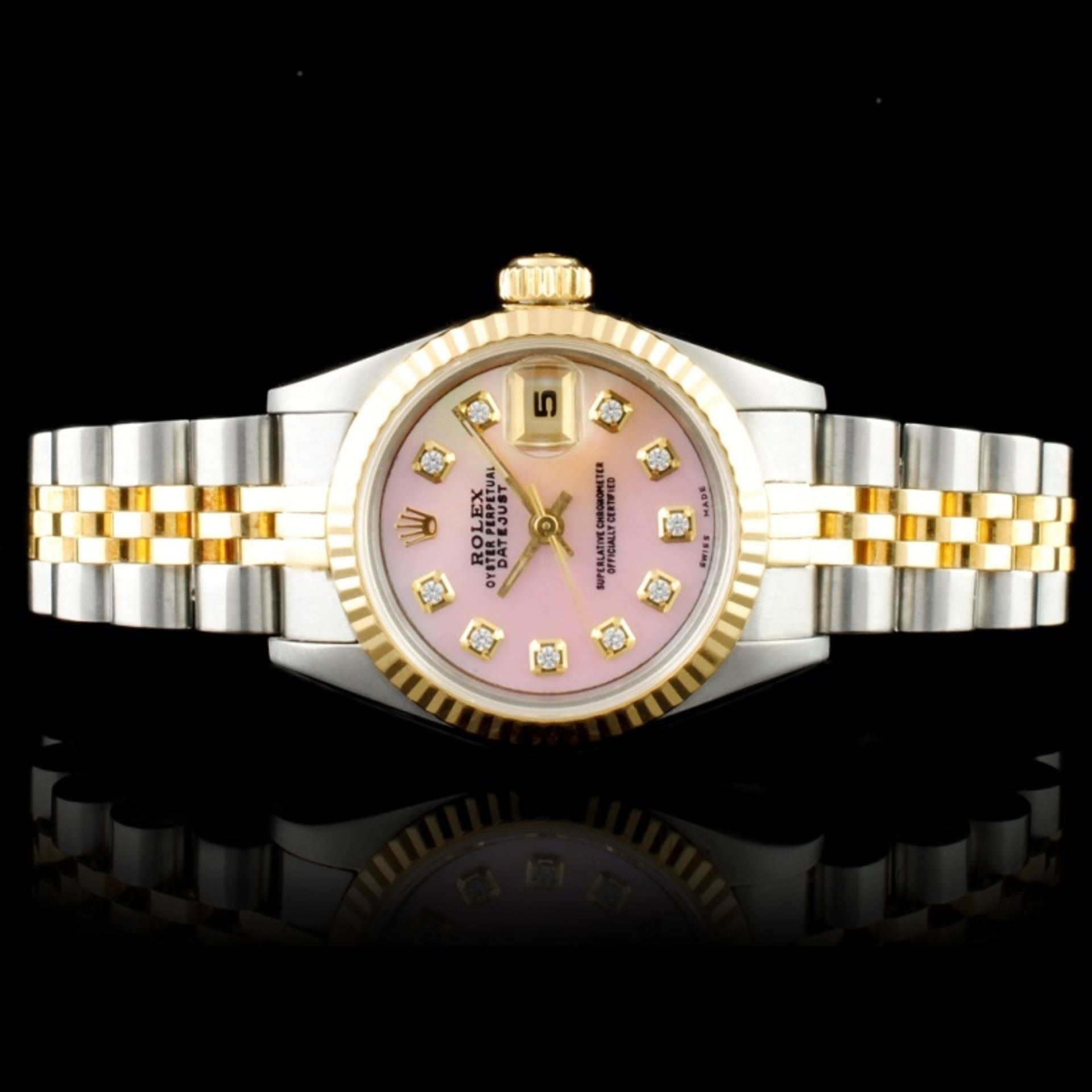 Rolex DateJust Diamond Ladies Wristwatch