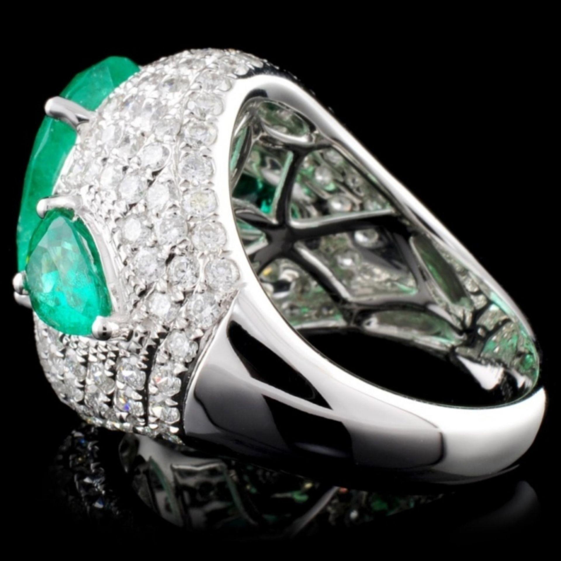 18K Gold 5.07ct Emerald & 2.52ct Diamond Ring - Image 3 of 4
