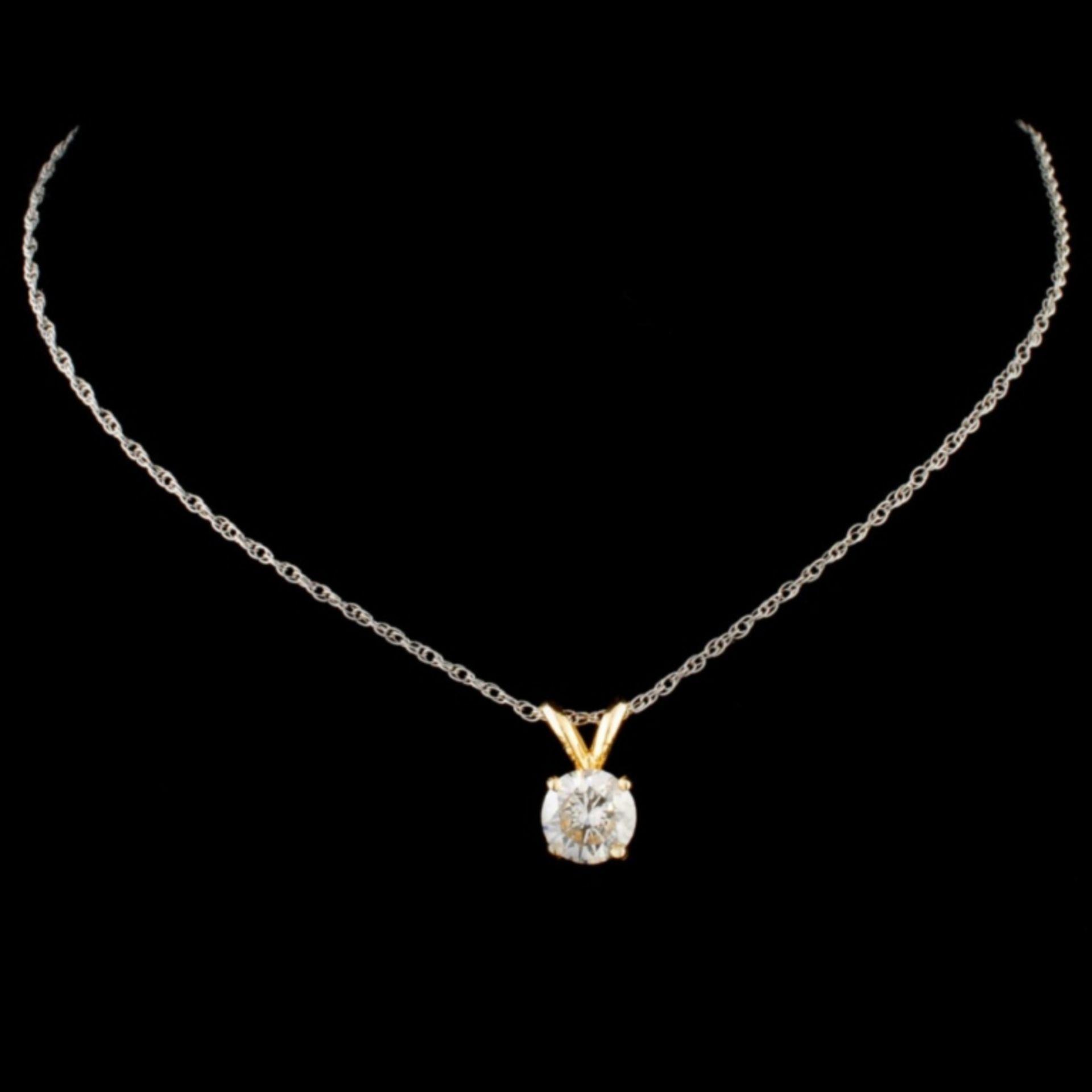 14K Gold 0.67ctw Diamond Pendant - Image 2 of 3