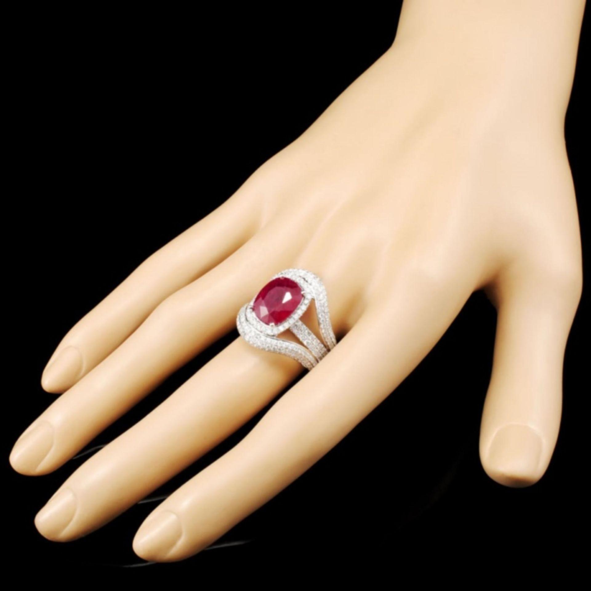 18K Gold 5.17ct Ruby & 1.95ctw Diamond Ring - Image 3 of 5