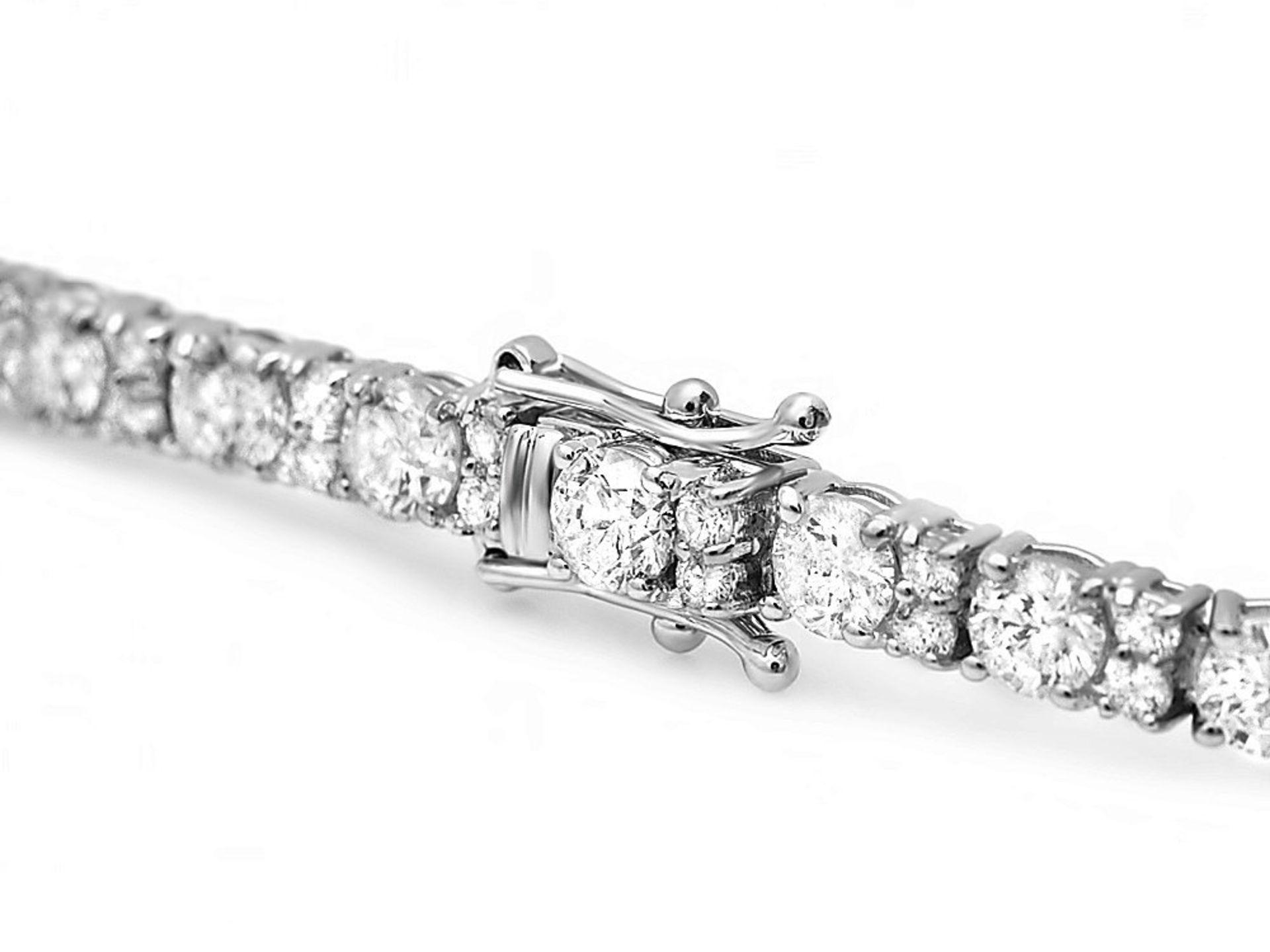 18k White Gold 9.00ct Diamond Bracelet - Image 3 of 4