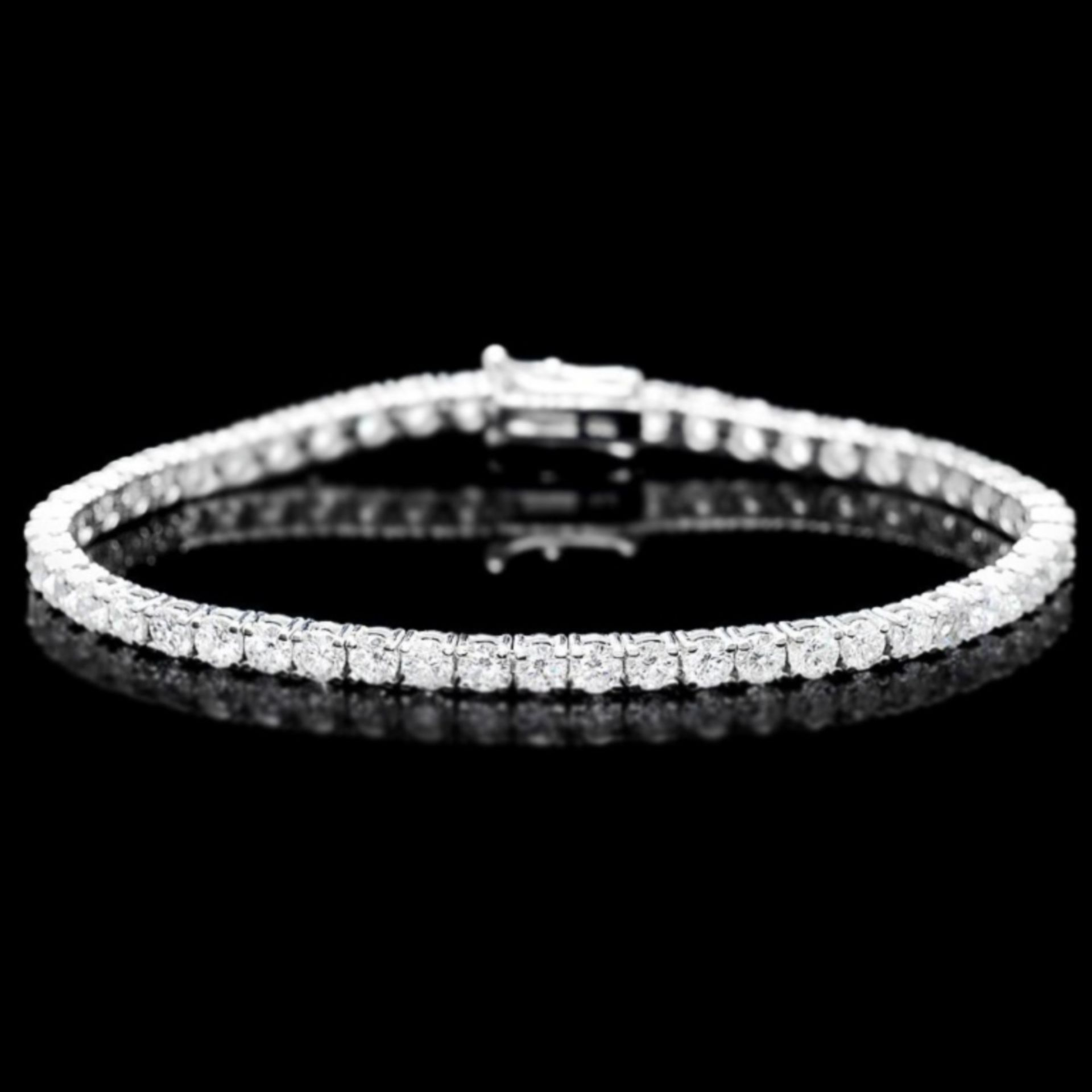 ^18k White Gold 7.45ct Diamond Bracelet