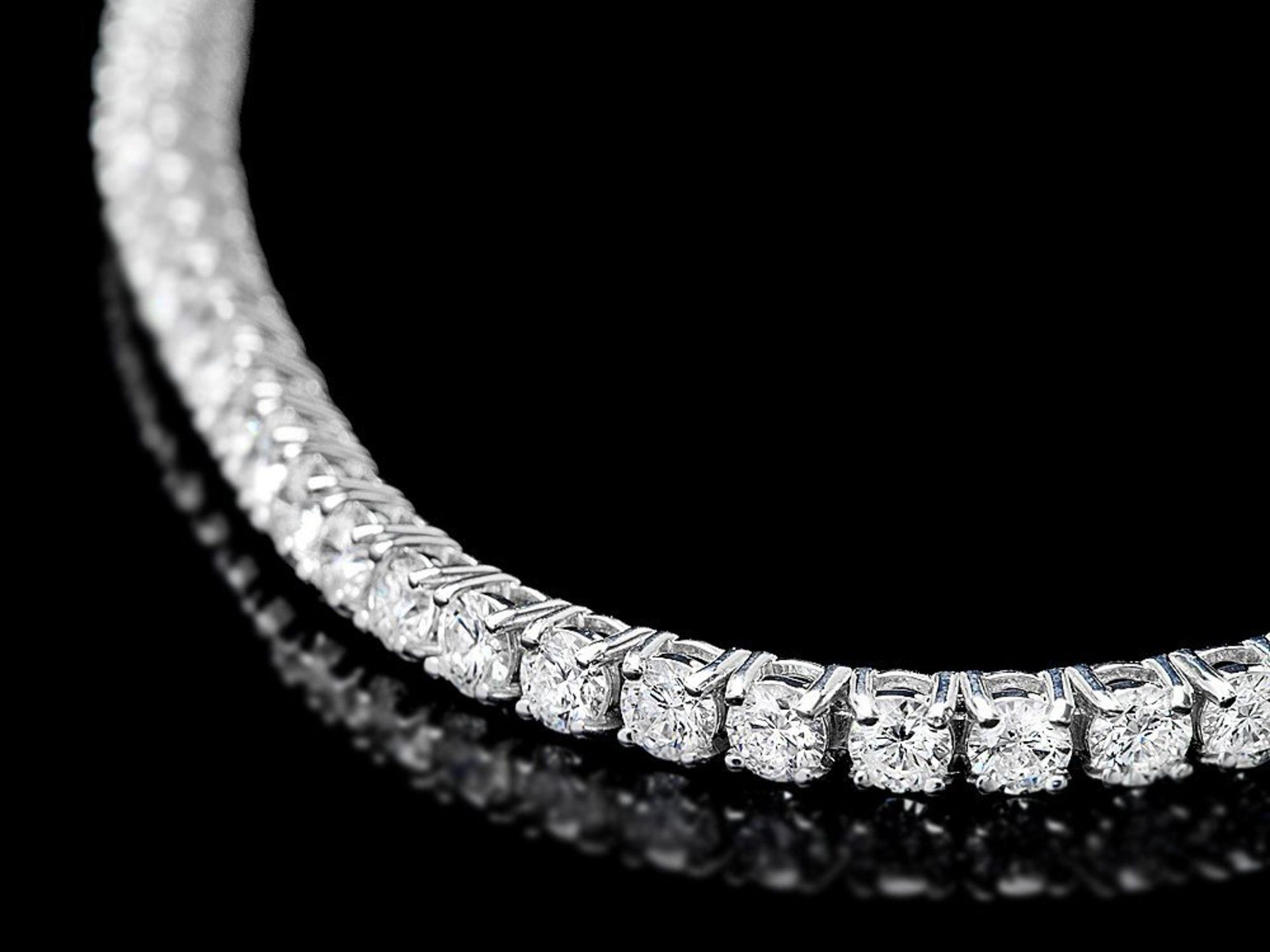 18k White Gold 5.00ct Diamond Bracelet - Image 2 of 3