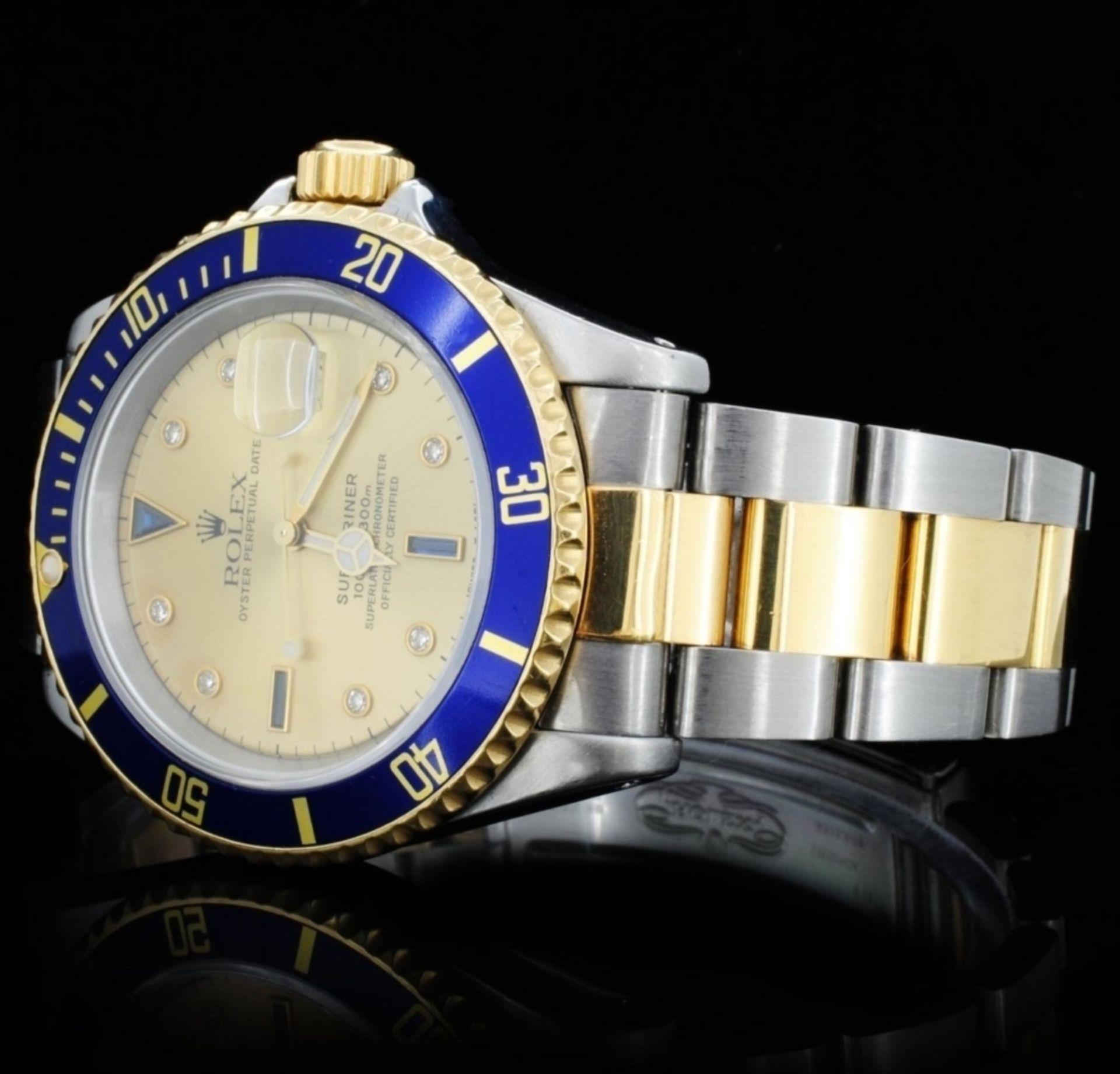 Rolex YG/SS Submariner Men's Wristwatch - Image 3 of 6