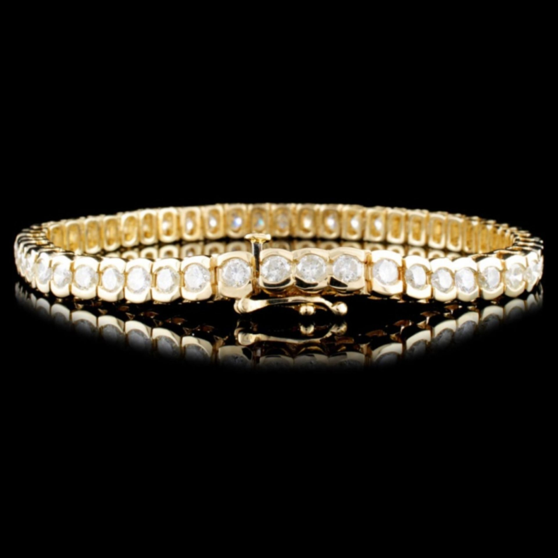 14K Gold 8.12ctw Diamond Tennis Bracelet - Image 2 of 3