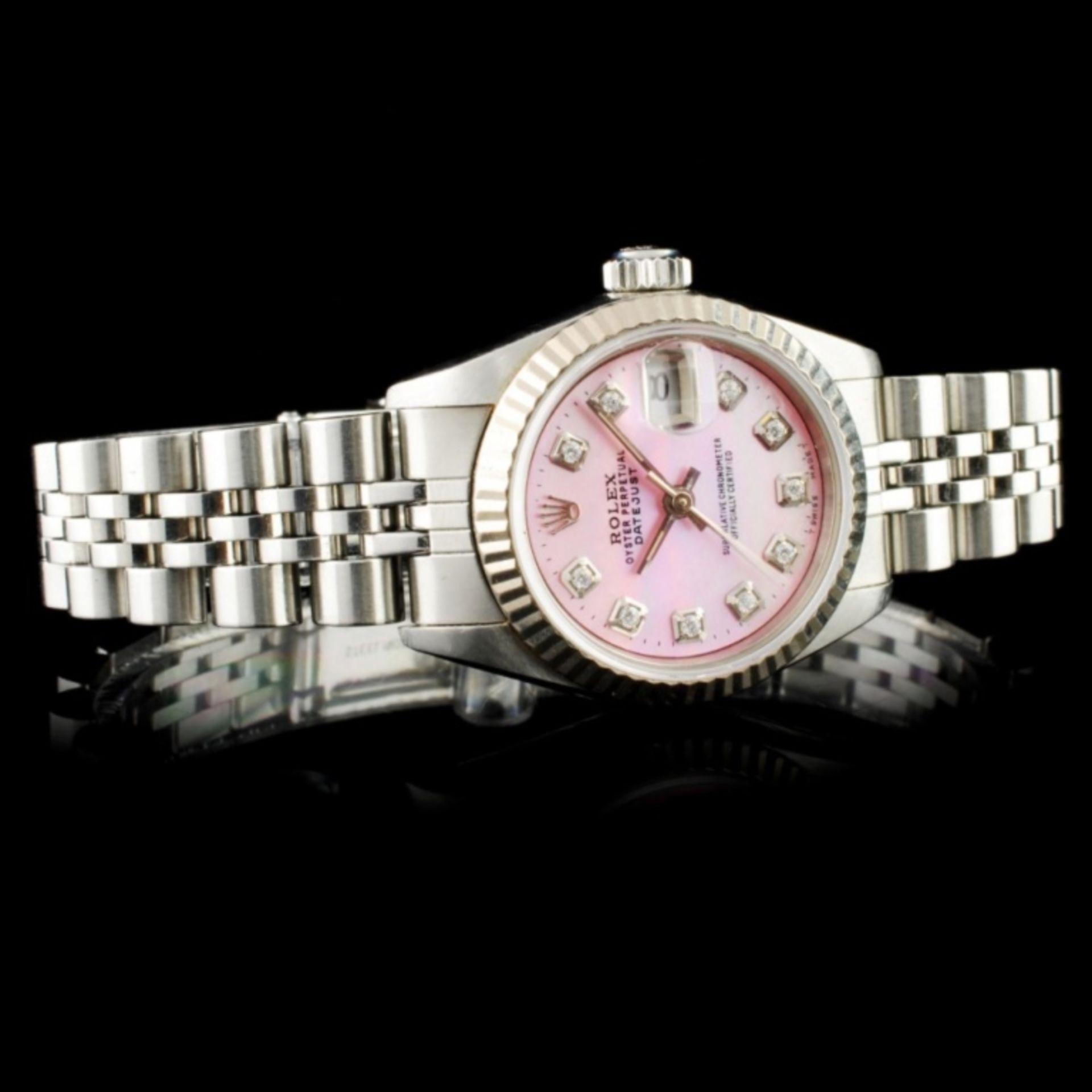 Rolex DateJust 18K & SS Ladies Wristwatch - Image 2 of 6