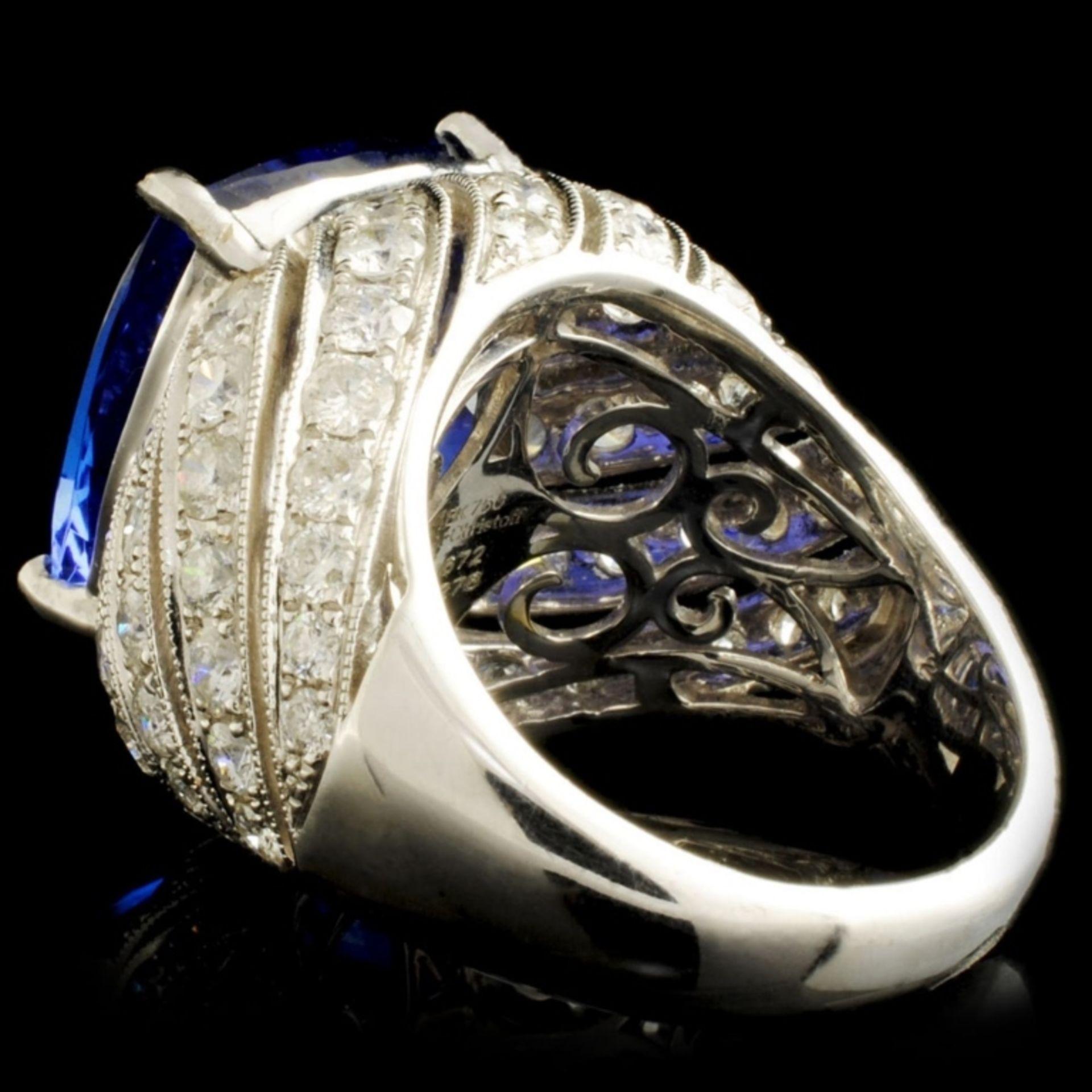 18K Gold 16.72ct Tanzanite & 2.78ctw Diamond Ring - Image 5 of 6