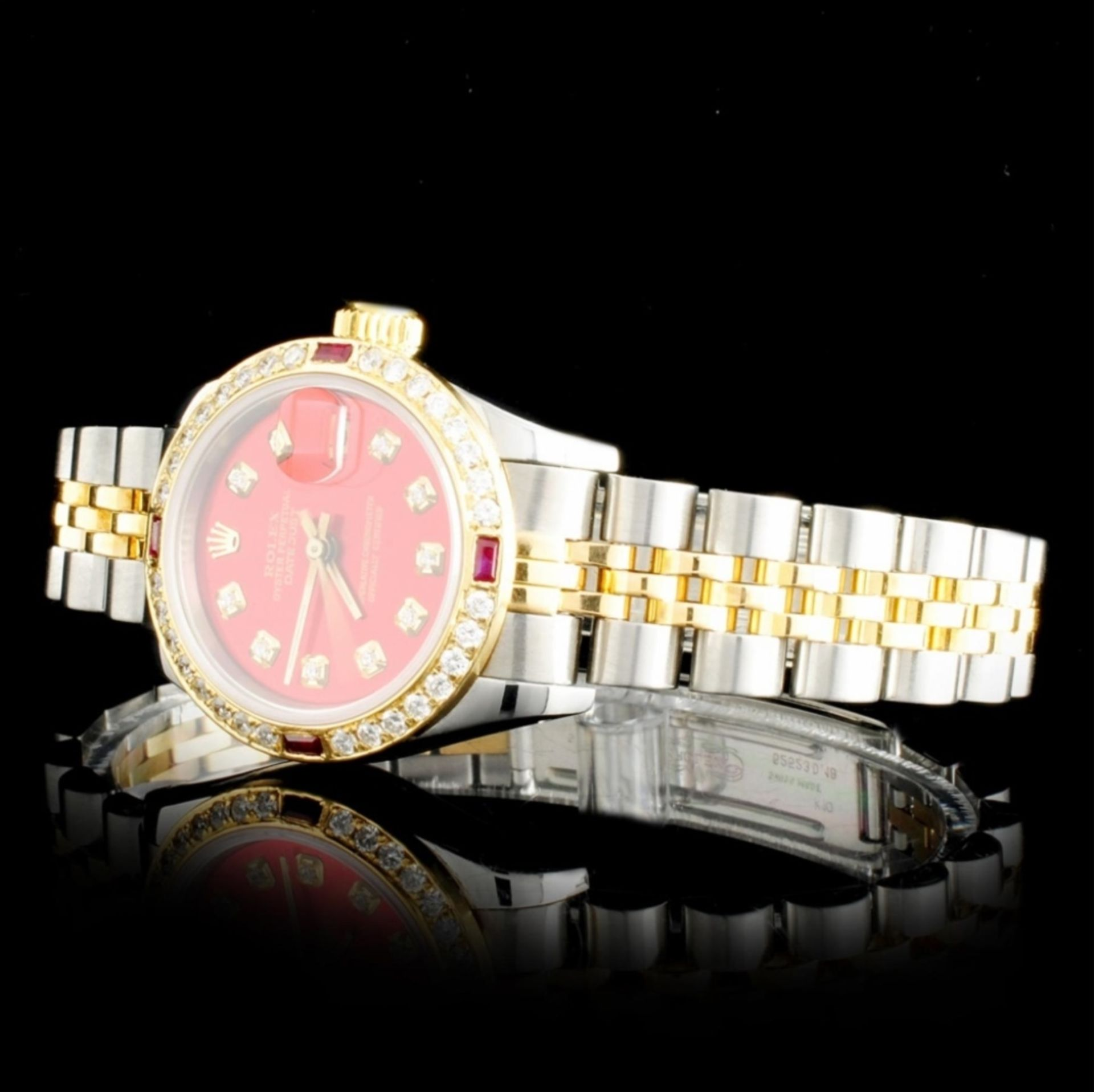 Rolex YG/SS DateJust Diamond Ladies Watch - Image 2 of 5