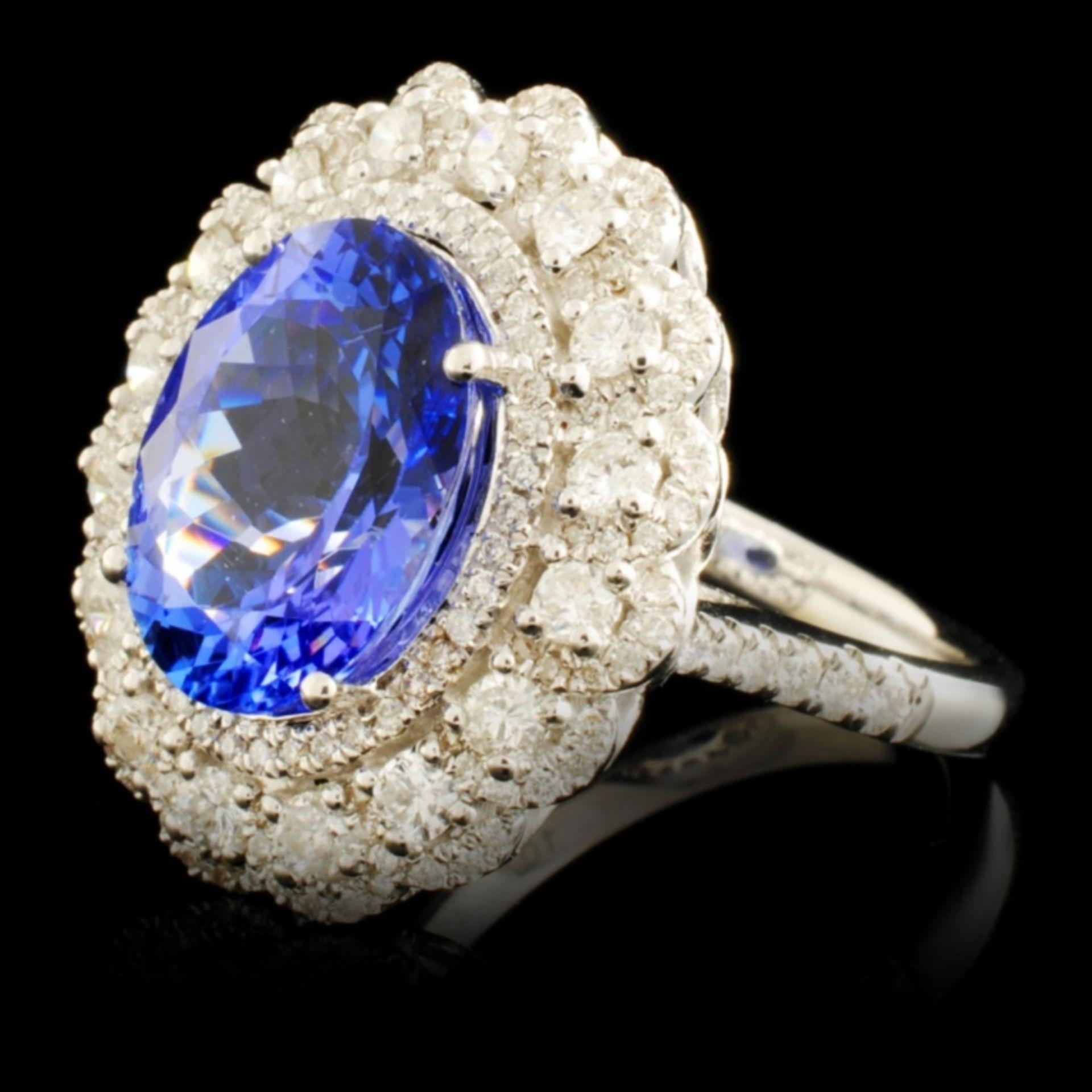 18K Gold 4.92ct Tanzanite & 1.07ctw Diamond Ring - Image 2 of 5