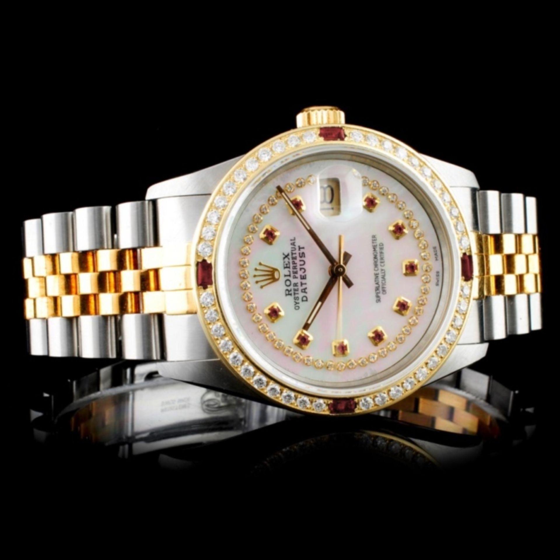 Rolex DateJust 18K/SS Diamond 36mm Watch - Image 2 of 5
