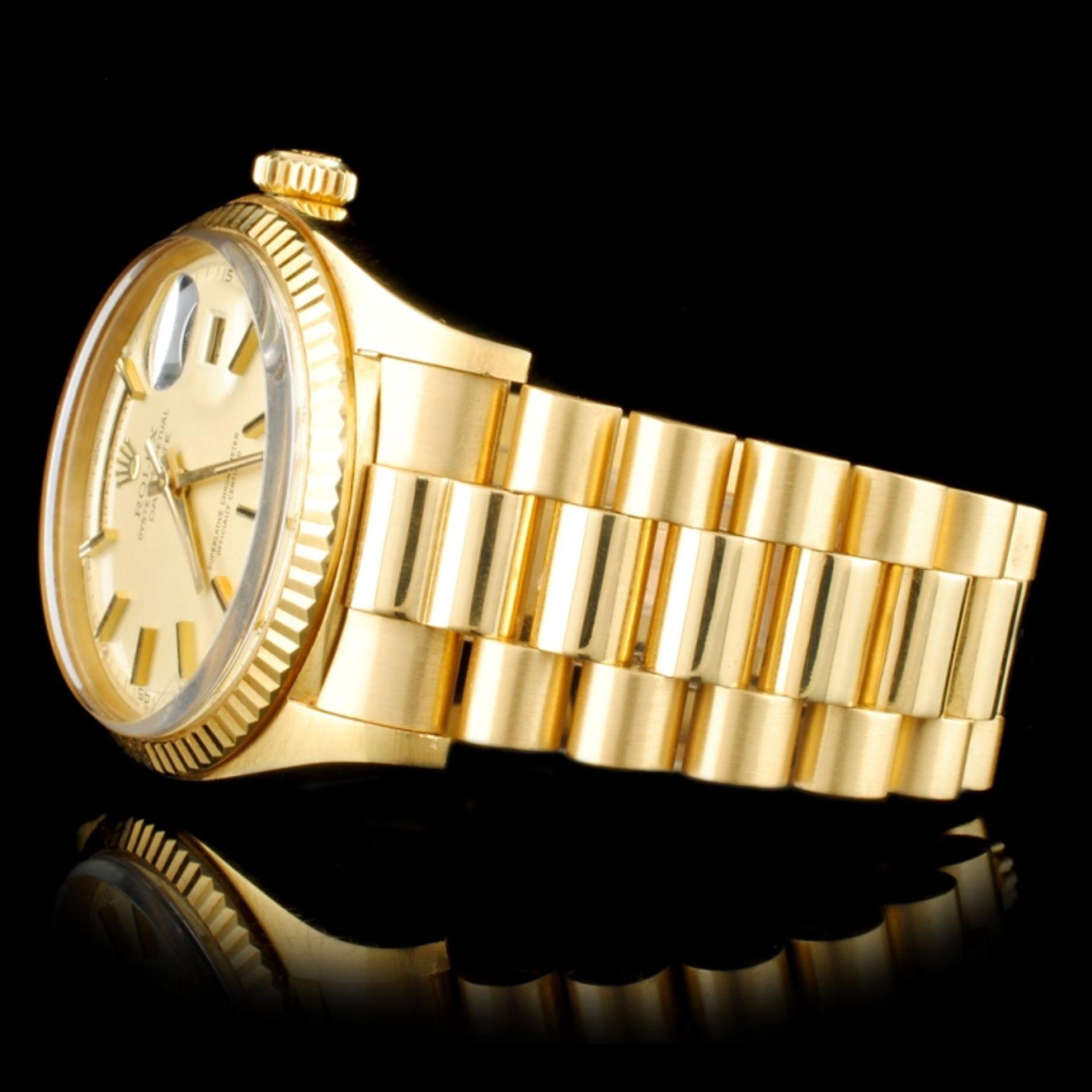 Rolex Day-Date 18K YG 36MM Wristwatch - Image 3 of 6