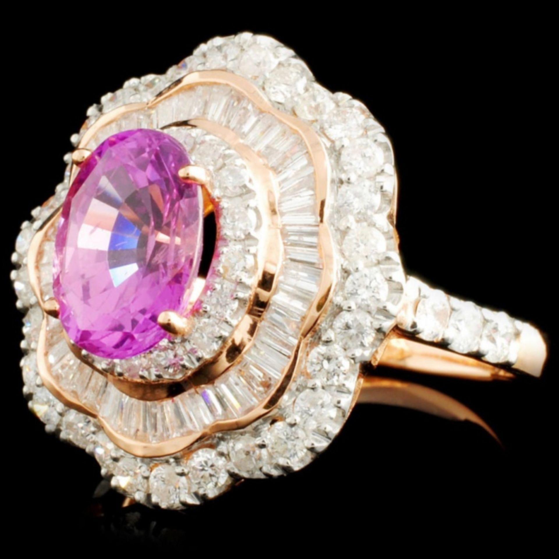 14K Gold 1.90ct Sapphire & 1.31ctw Diamond Ring - Image 2 of 5