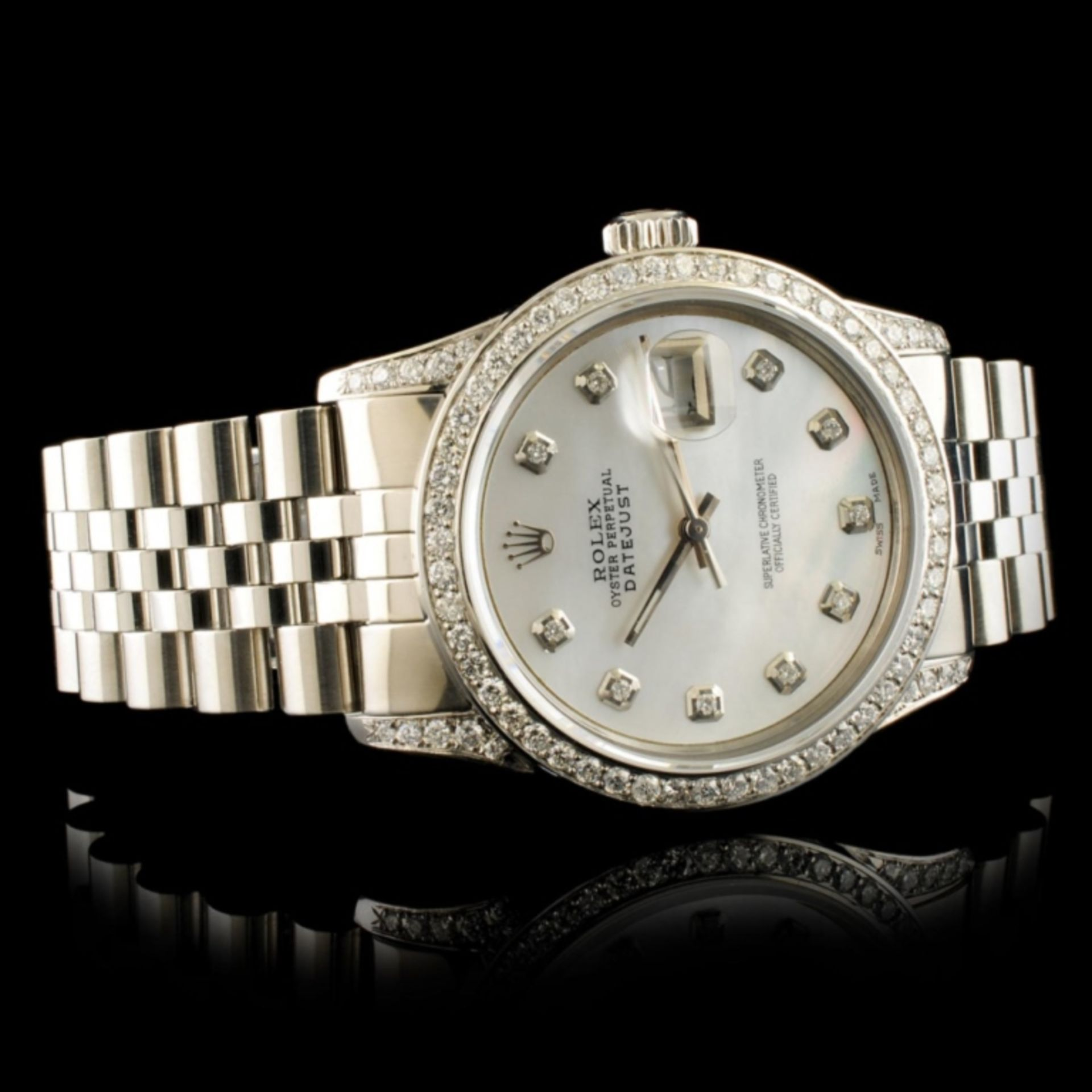 Rolex DateJust 1.50ctw Diamond 36MM Wristwatch - Image 5 of 6