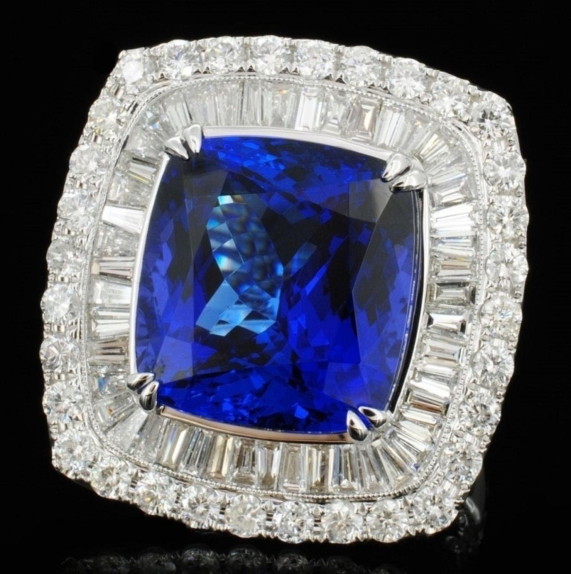 18K White Gold 17.88ct Tanzanite & 4.24ct Diamond - Image 2 of 5