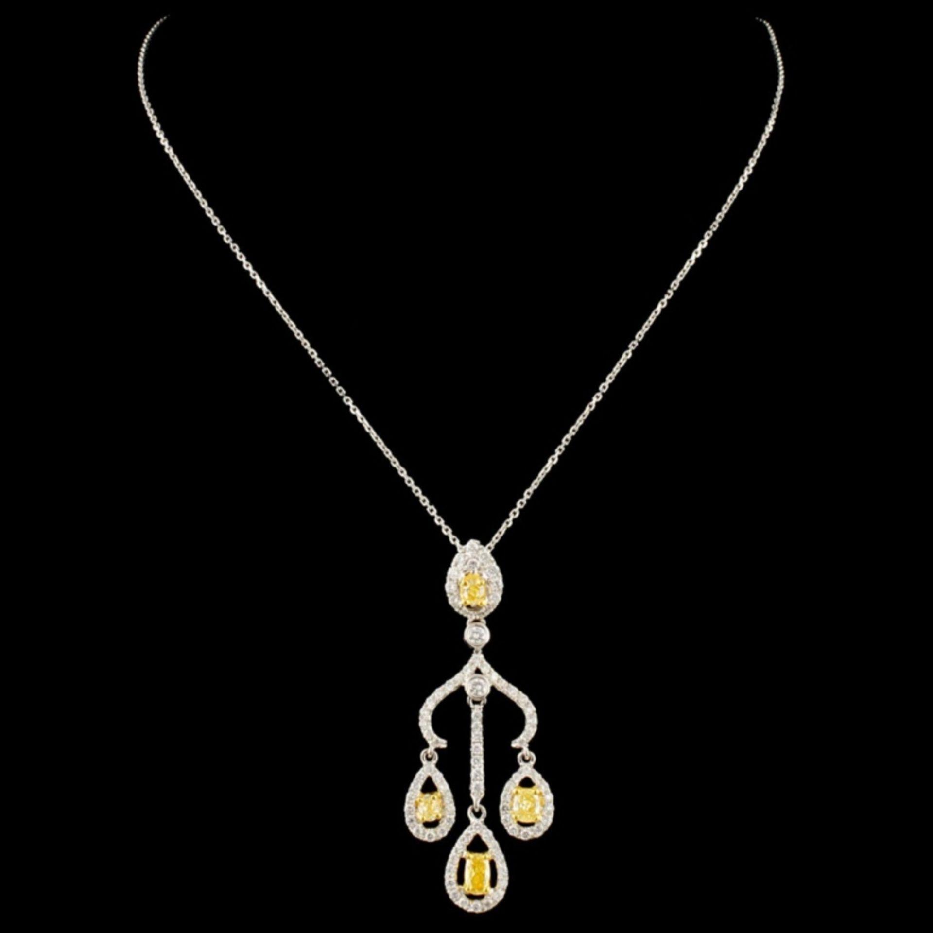 18K Gold 0.90ctw Fancy Diamond Pendant - Image 2 of 4