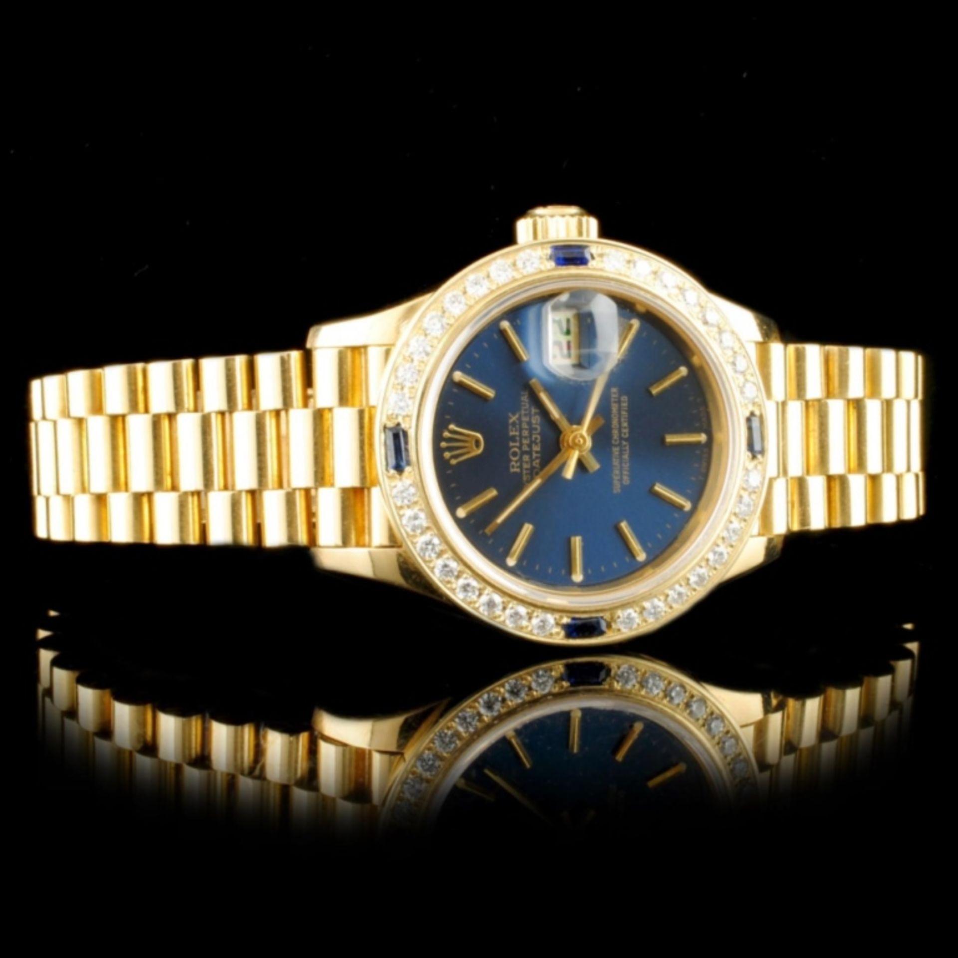 Rolex DateJust 18K YG Diamond 26MM Watch - Image 3 of 6