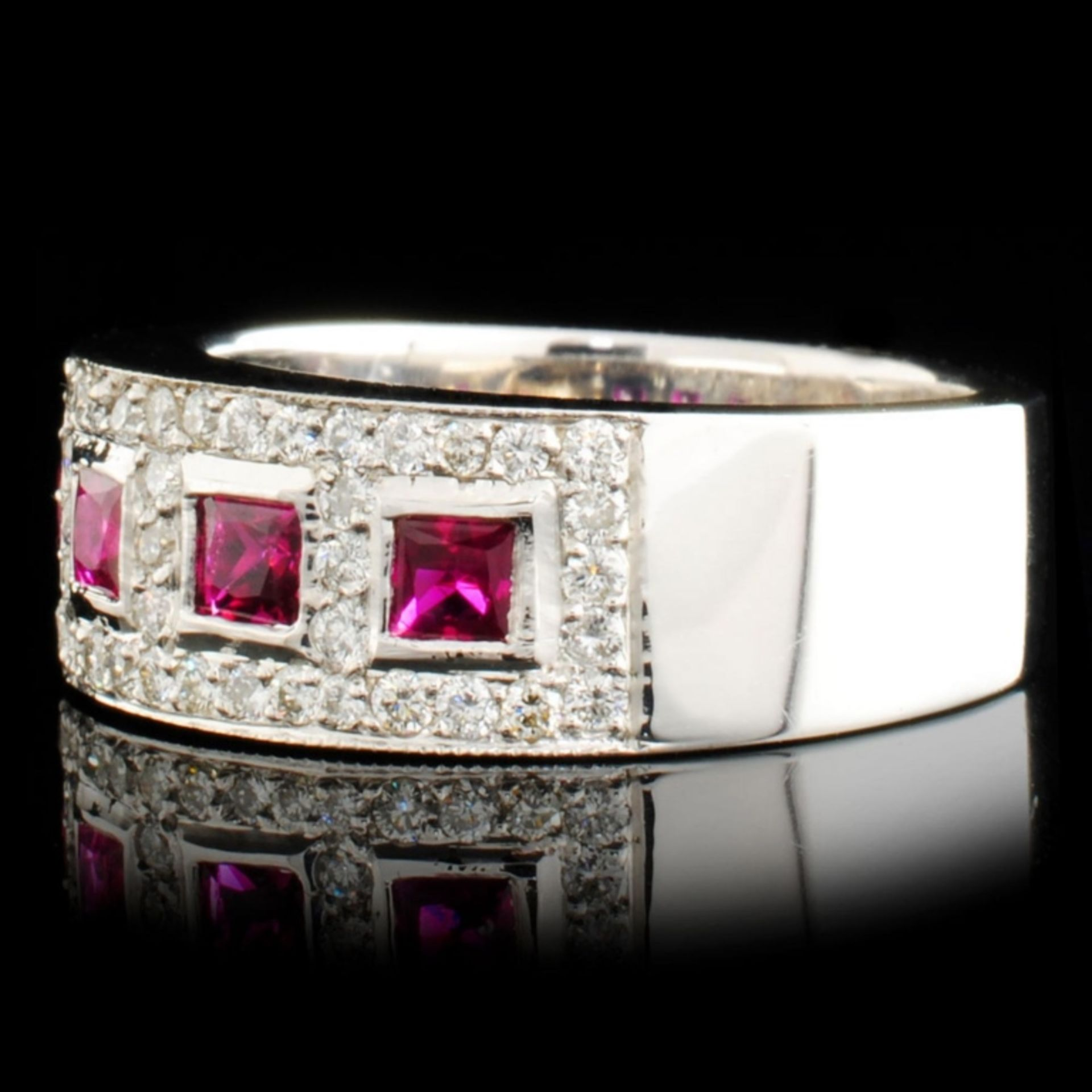 14K Gold 0.59ct Ruby & 0.62ctw Diamond Ring - Image 2 of 5
