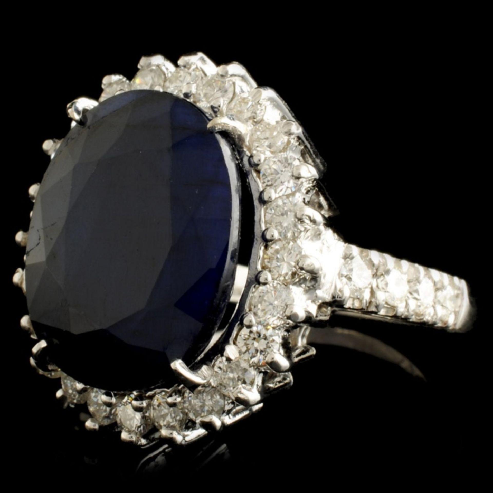 14K Gold 11.90ct Sapphire & 1.24ctw Diamond Ring - Image 2 of 5