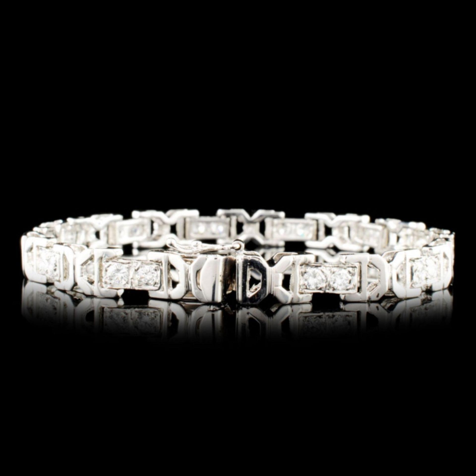14K Gold 2.01ctw Diamond Bracelet - Image 2 of 4