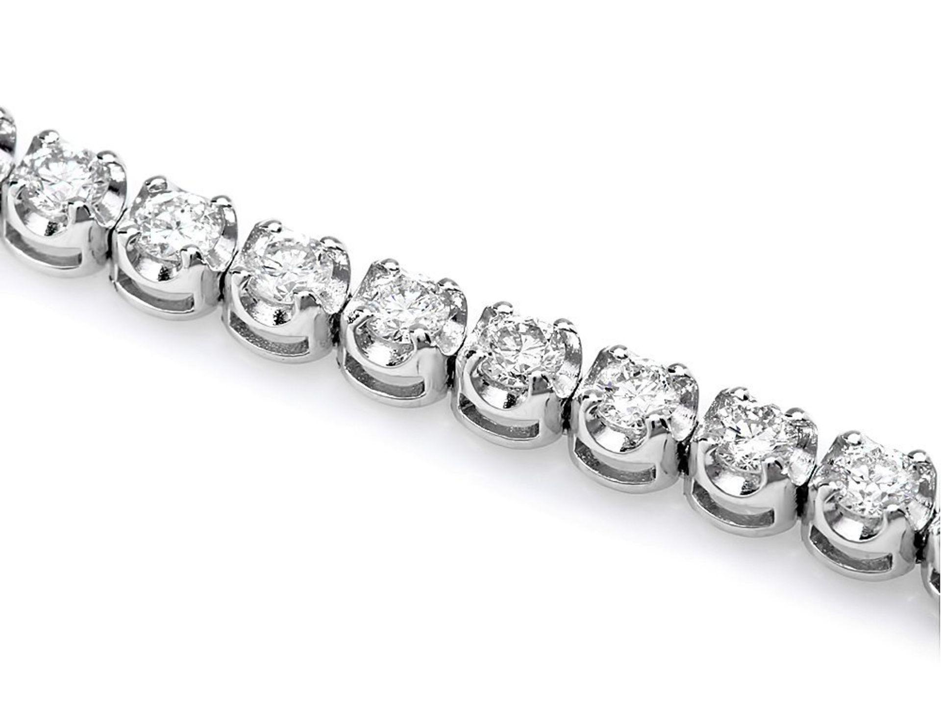 18k White Gold 3.00ct Diamond Bracelet - Image 2 of 4