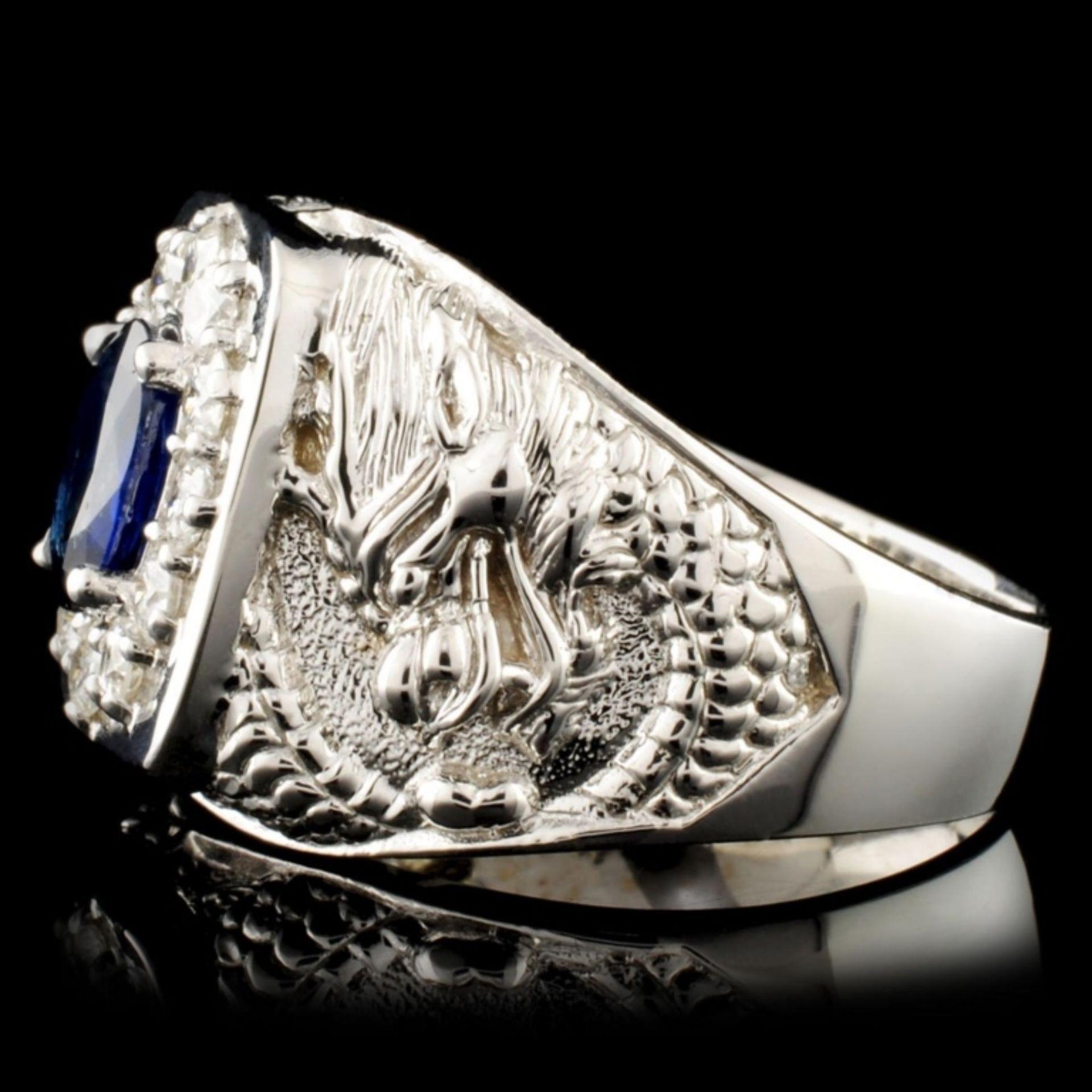 14K Gold 2.00ct Sapphire & 0.90ctw Diamond Ring - Image 4 of 5
