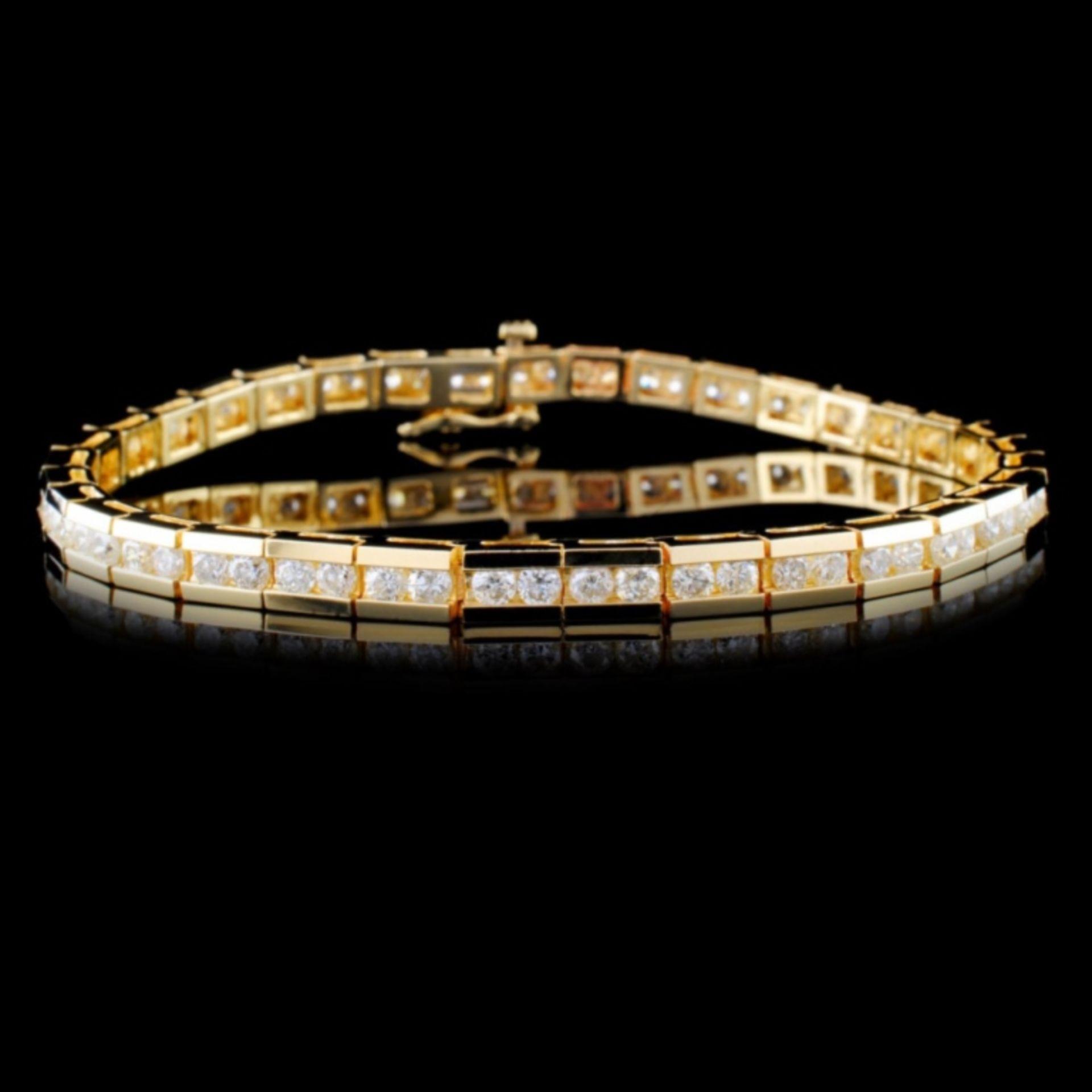 14K Yellow Gold 4.00ctw Diamond Bracelet