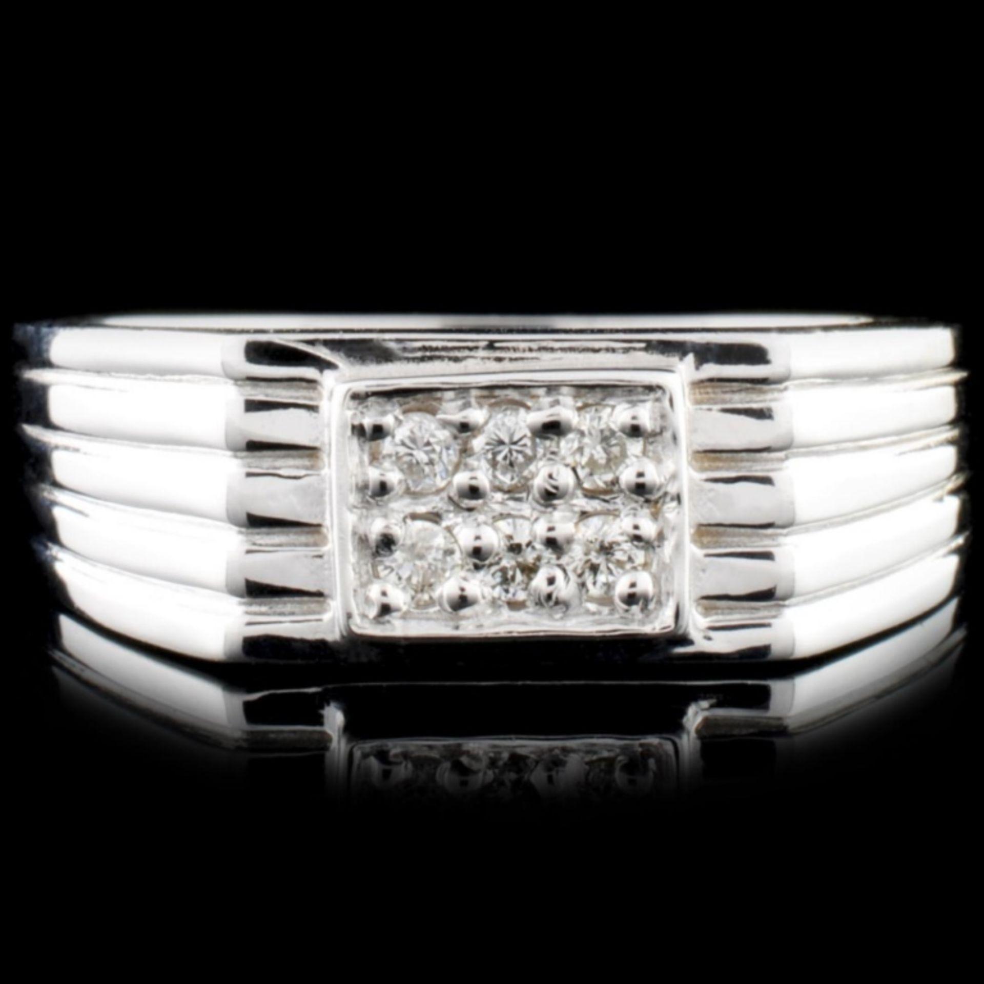 14K Gold 0.11ctw Diamond Ring - Image 2 of 3
