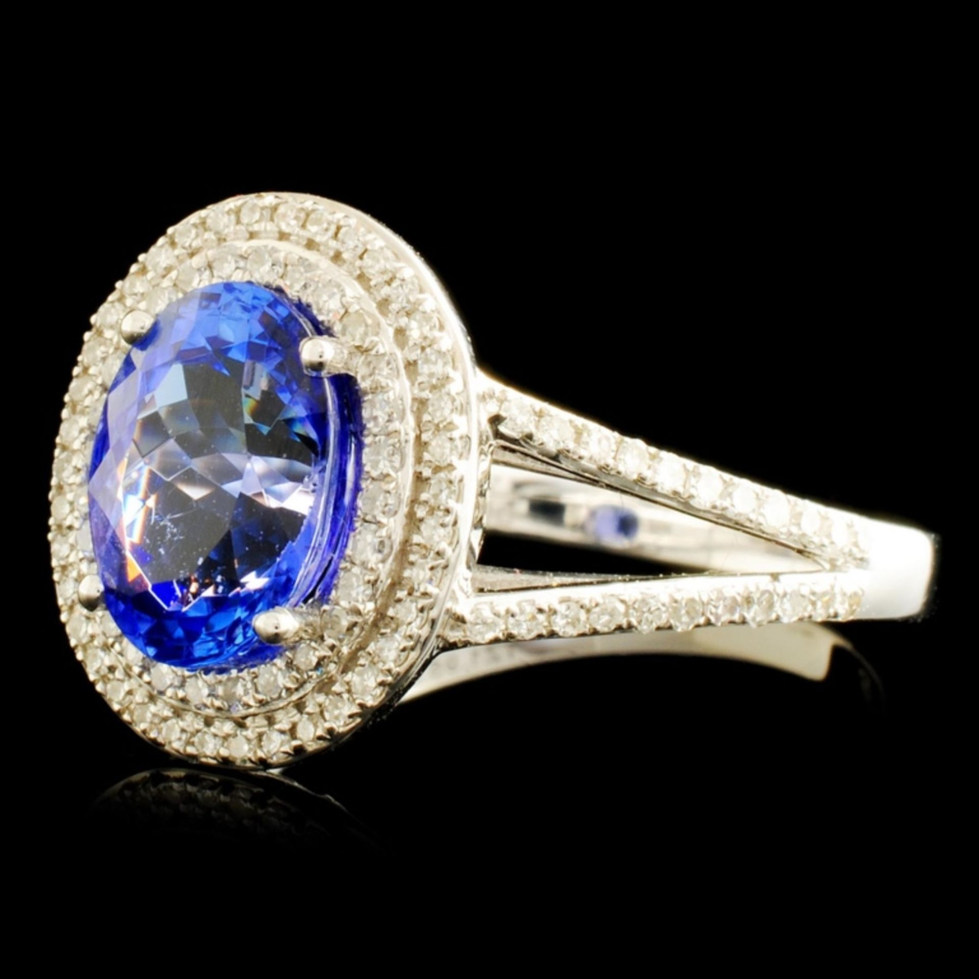 14K Gold 1.95ct Tanzanite & 0.48ctw Diamond Ring - Image 2 of 5