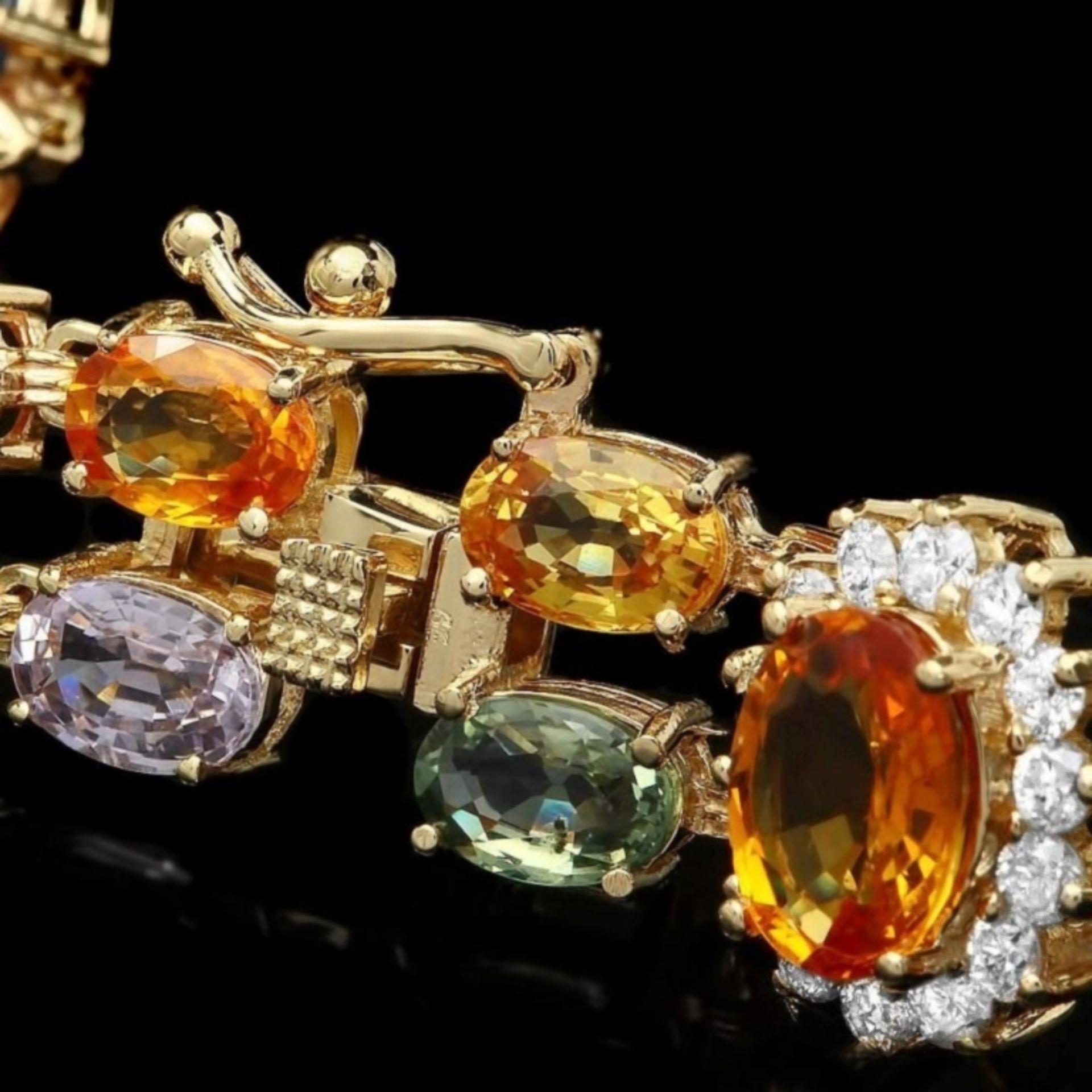 `14k Gold 27.00ct Sapphire & 1.40ct Diamond Bracel - Image 3 of 4