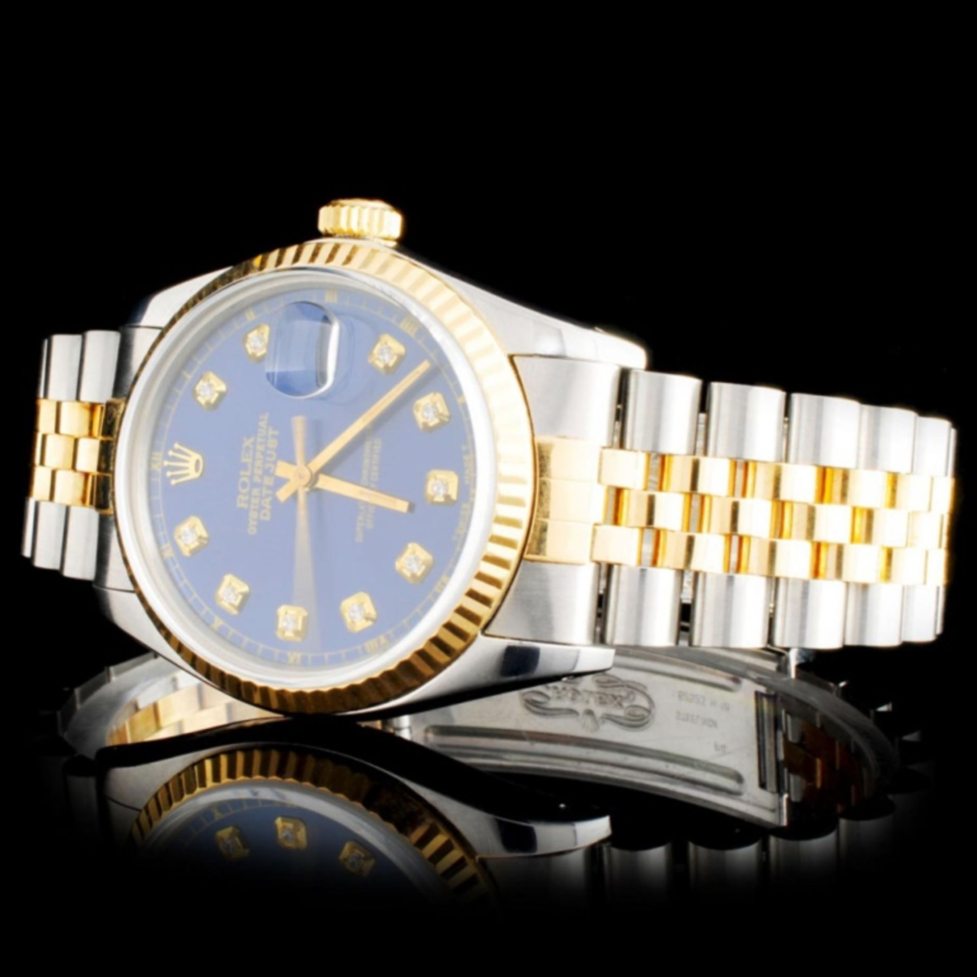 Rolex YG/SS DateJust Diamond 36MM Wristwatch - Image 2 of 5