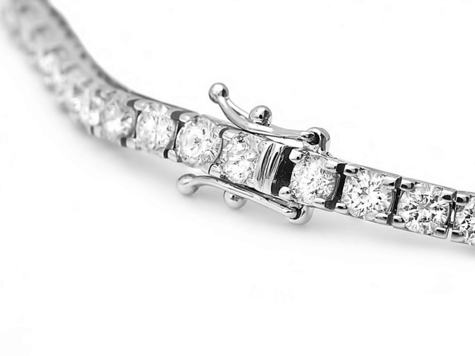 ^18k White Gold 8.00ct Diamond Bracelet - Image 3 of 4