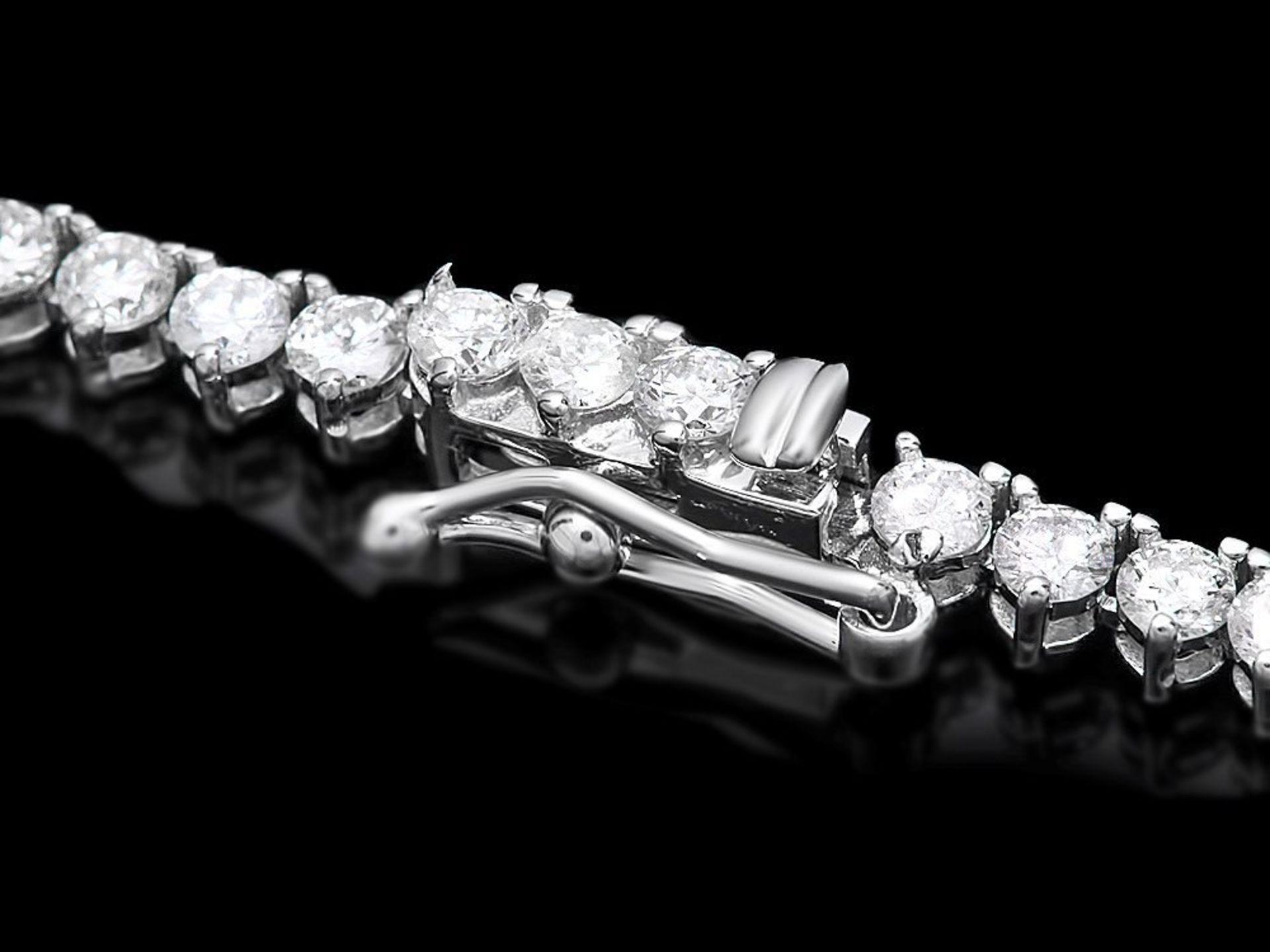 18k White Gold 9.00ct Diamond Necklace - Image 4 of 5
