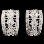 18K Gold 1.75ctw Diamond Earrings