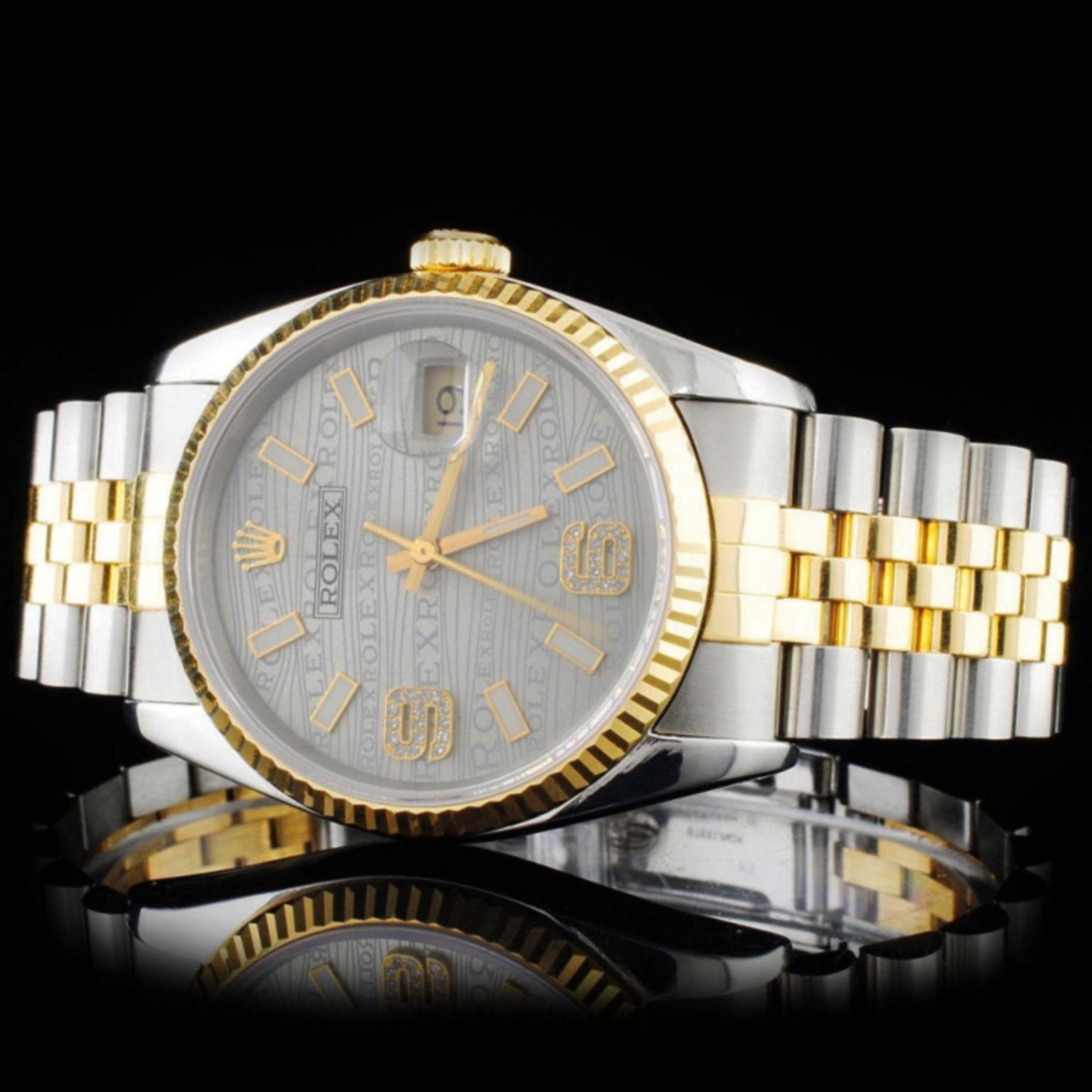 Rolex YG/SS 36MM DateJust Diamond Wristwatch - Image 2 of 5