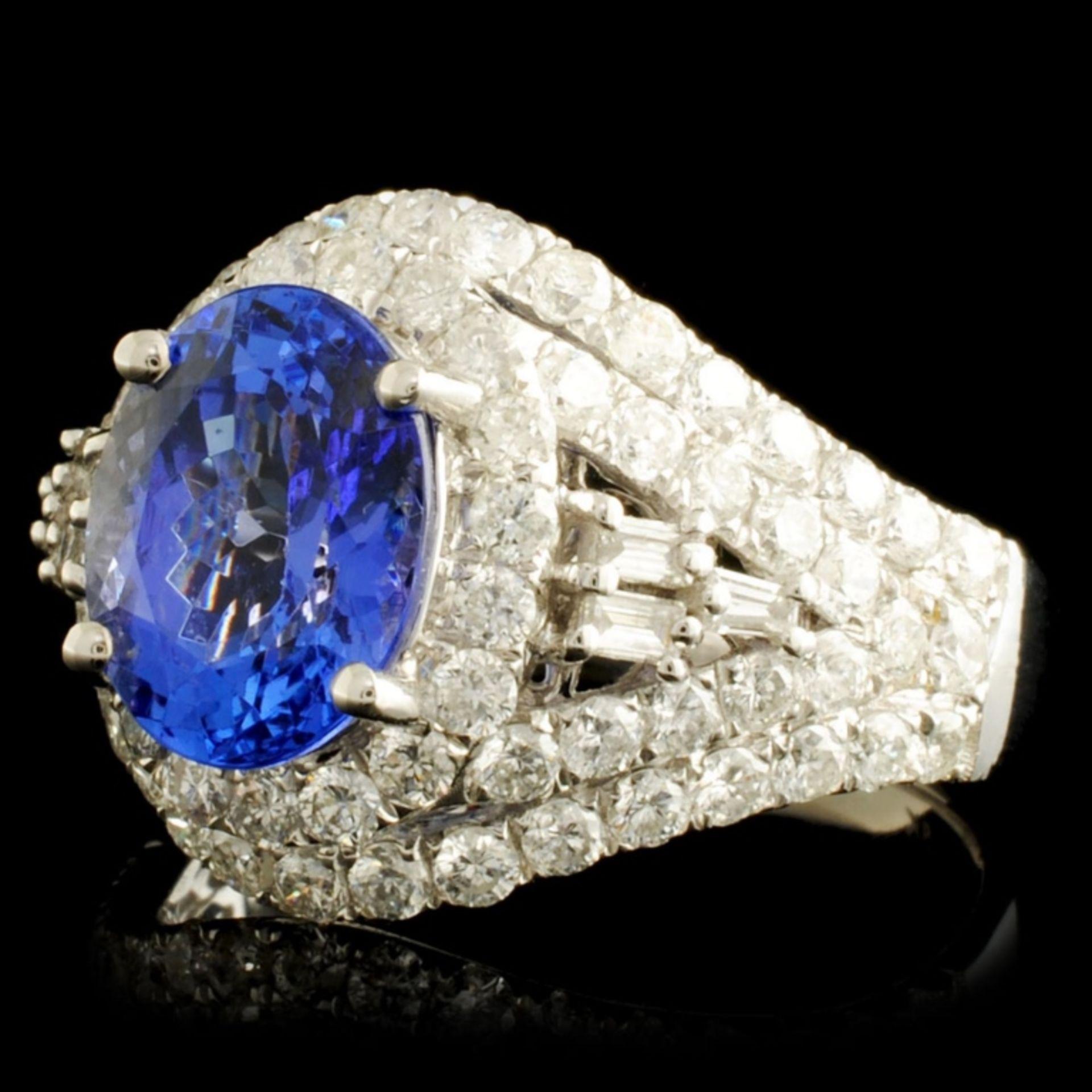 18K Gold 2.69ct Tanzanite & 1.65ctw Diamond Ring - Image 2 of 5
