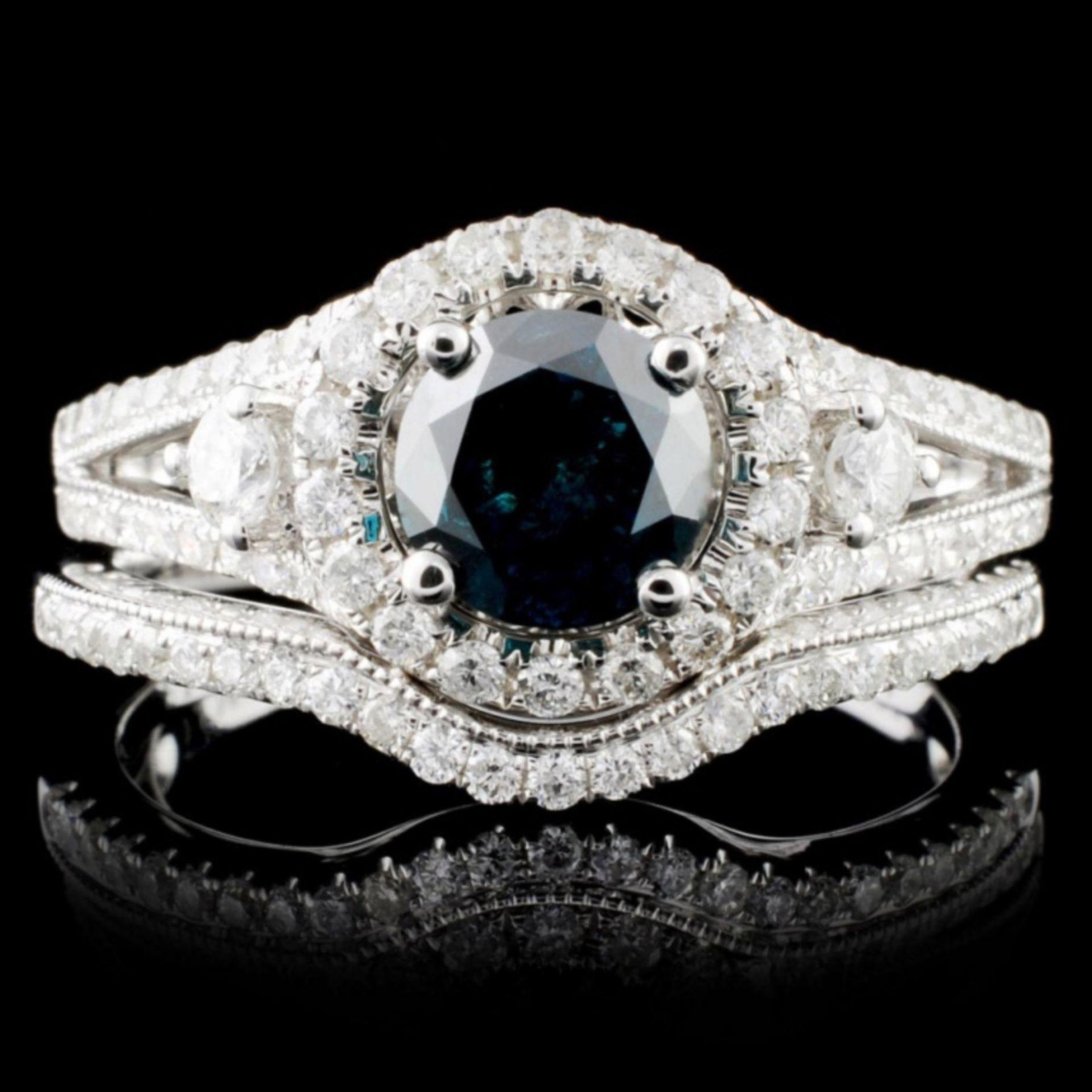 18K Gold 1.47ctw Fancy Color Diamond Ring
