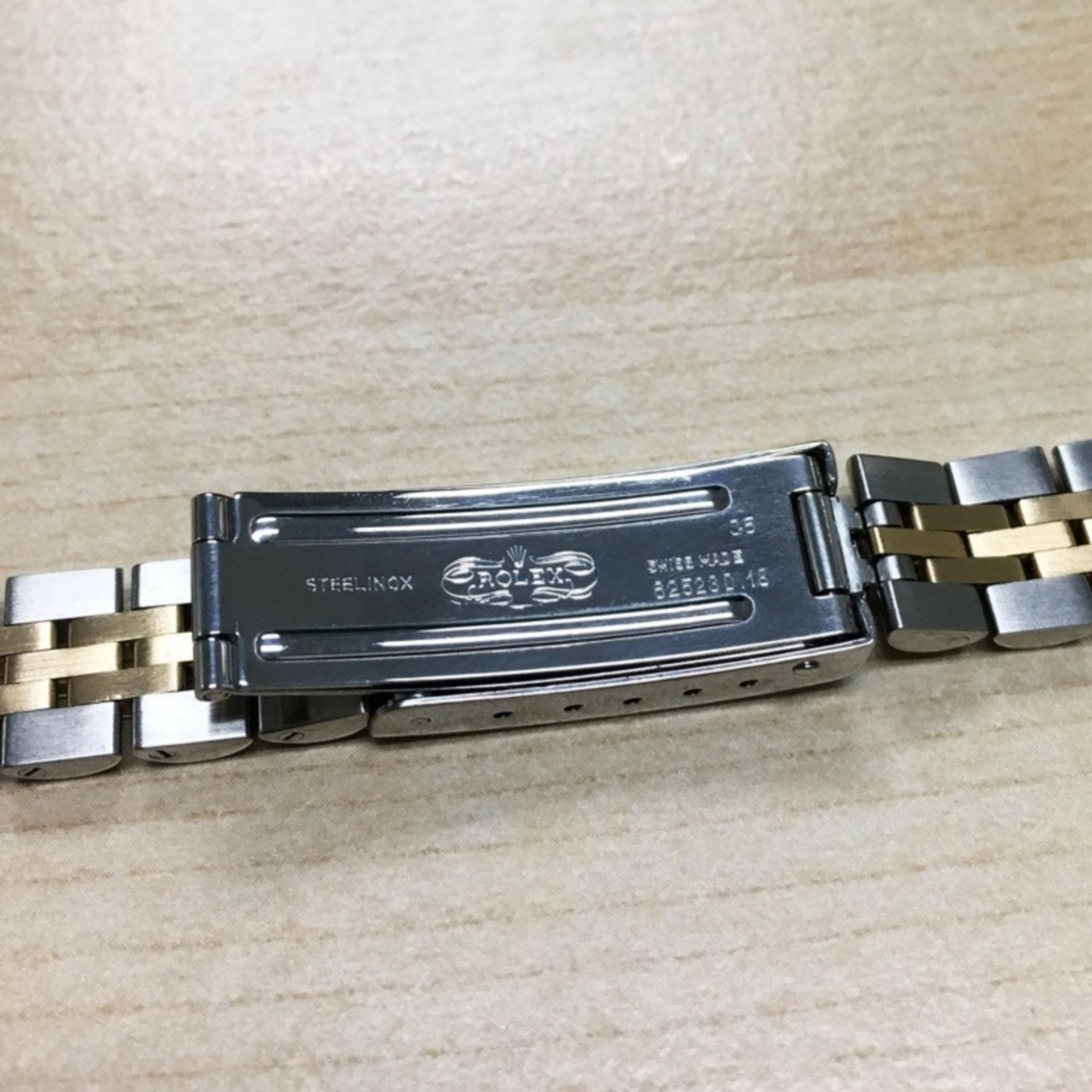 Rolex DateJust 18K & SS 1.00ct Diamond Blue Vignet - Image 8 of 8