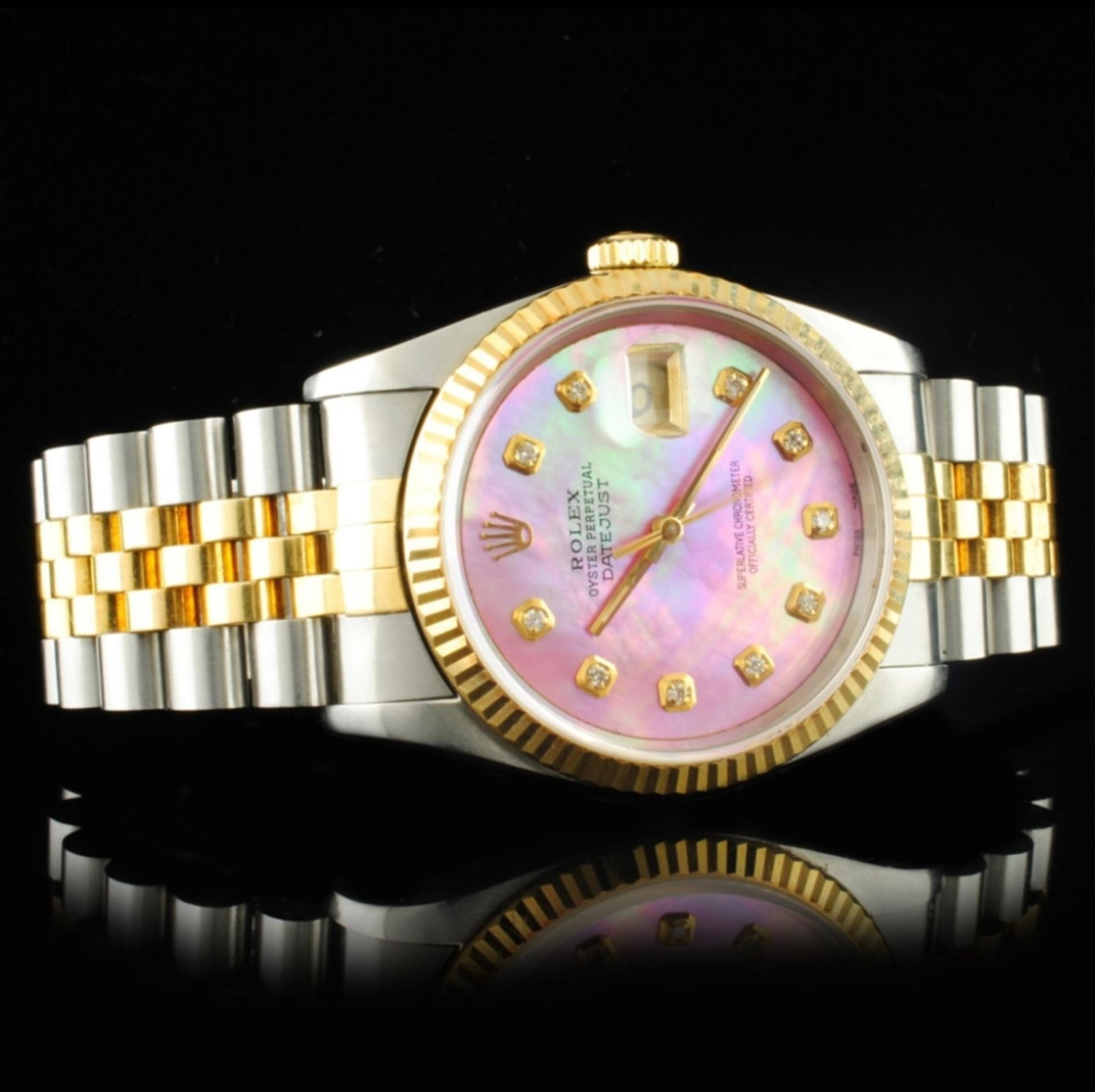 Rolex DateJust YG/SS Diamond 36MM Wristwatch - Image 3 of 5